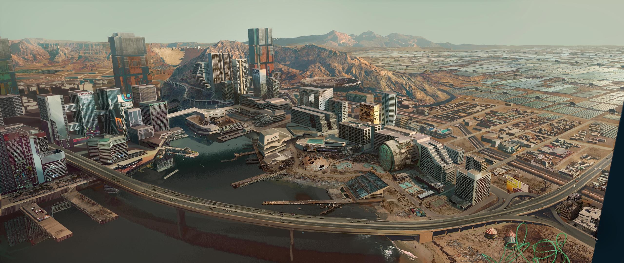 2560x1080 Cyberpunk 2077 City Concept Art 8K 2560x1080 ...