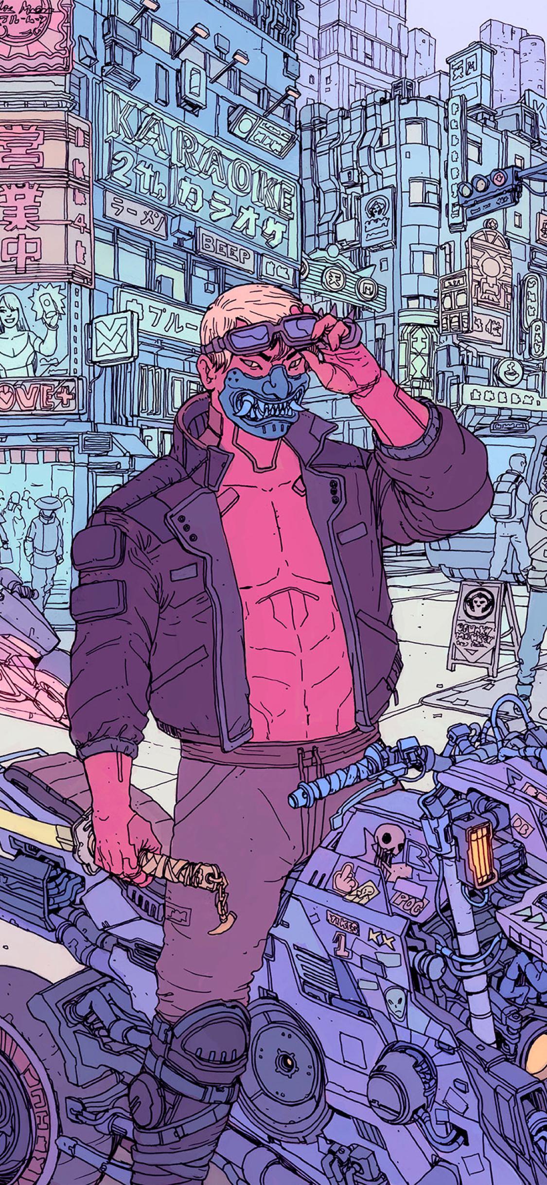 1125x2436 Cyberpunk 2077 Cool Concept Art Iphone XS,Iphone ...