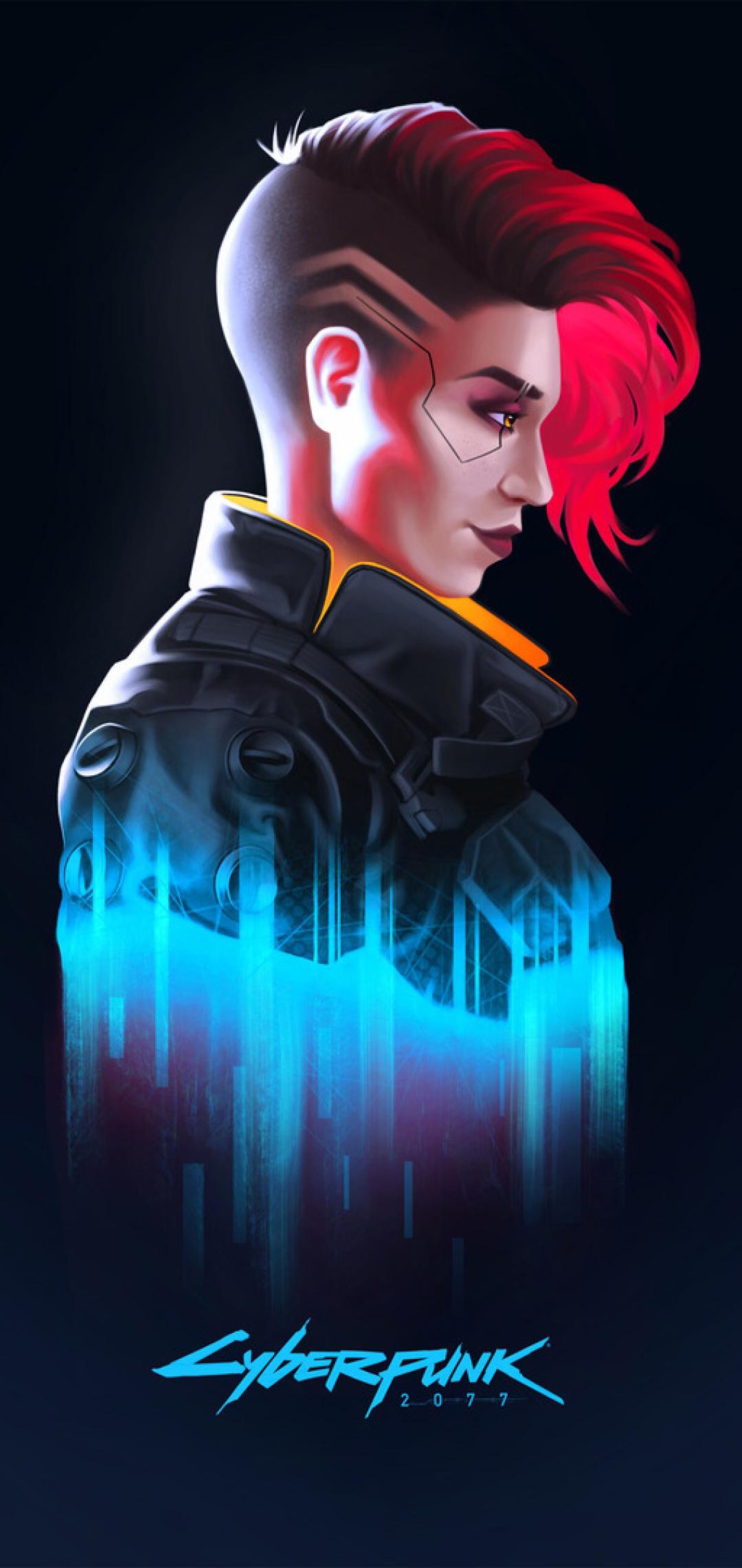1080x2280 Cyberpunk 2077 Female V Minimalist One Plus 6 ...