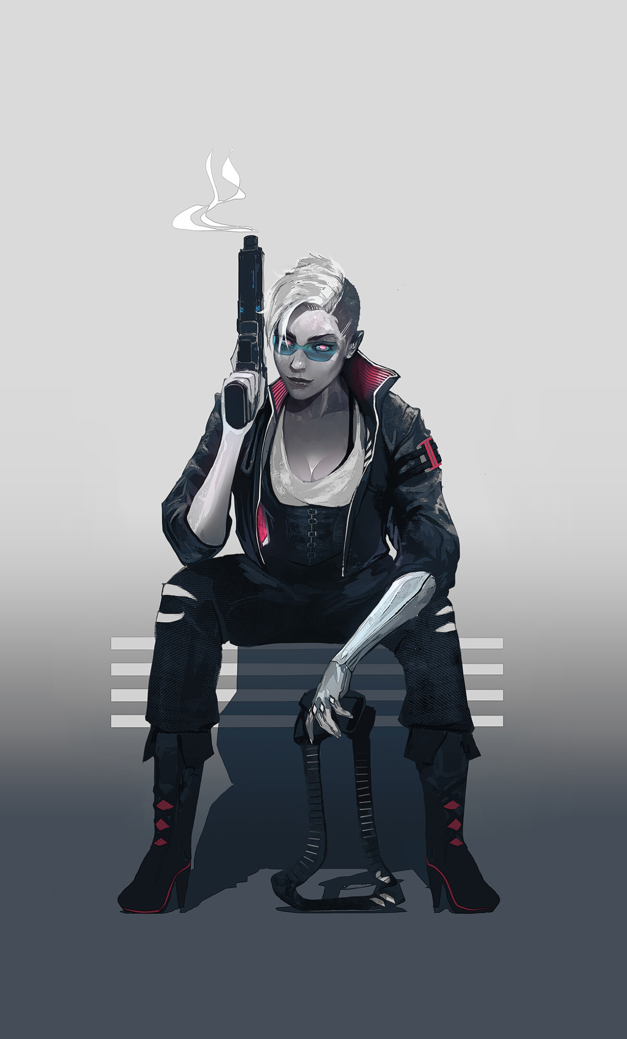 1280x2120 Cyberpunk 2077 Girl 4K iPhone 6 plus Wallpaper ...
