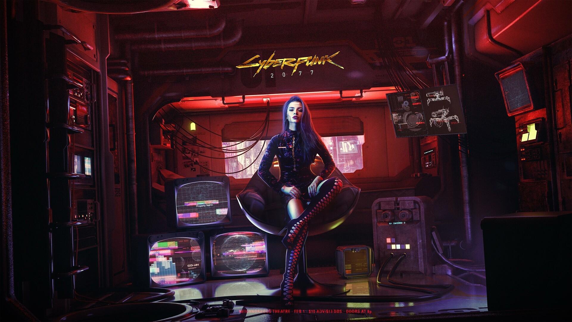 Cyberpunk 2077 Girl Art Wallpaper, HD Games 4K Wallpapers ...