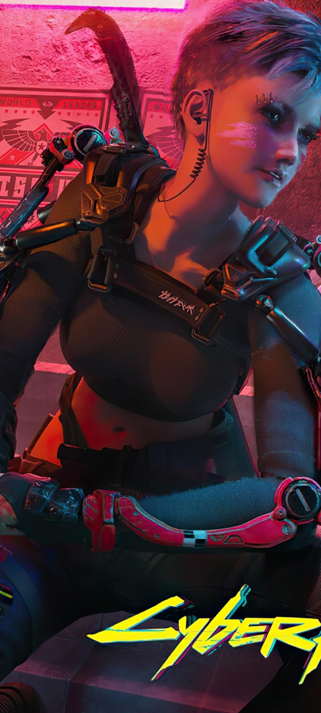 1080x2400 Cyberpunk 2077 Girl Team 1080x2400 Resolution ...
