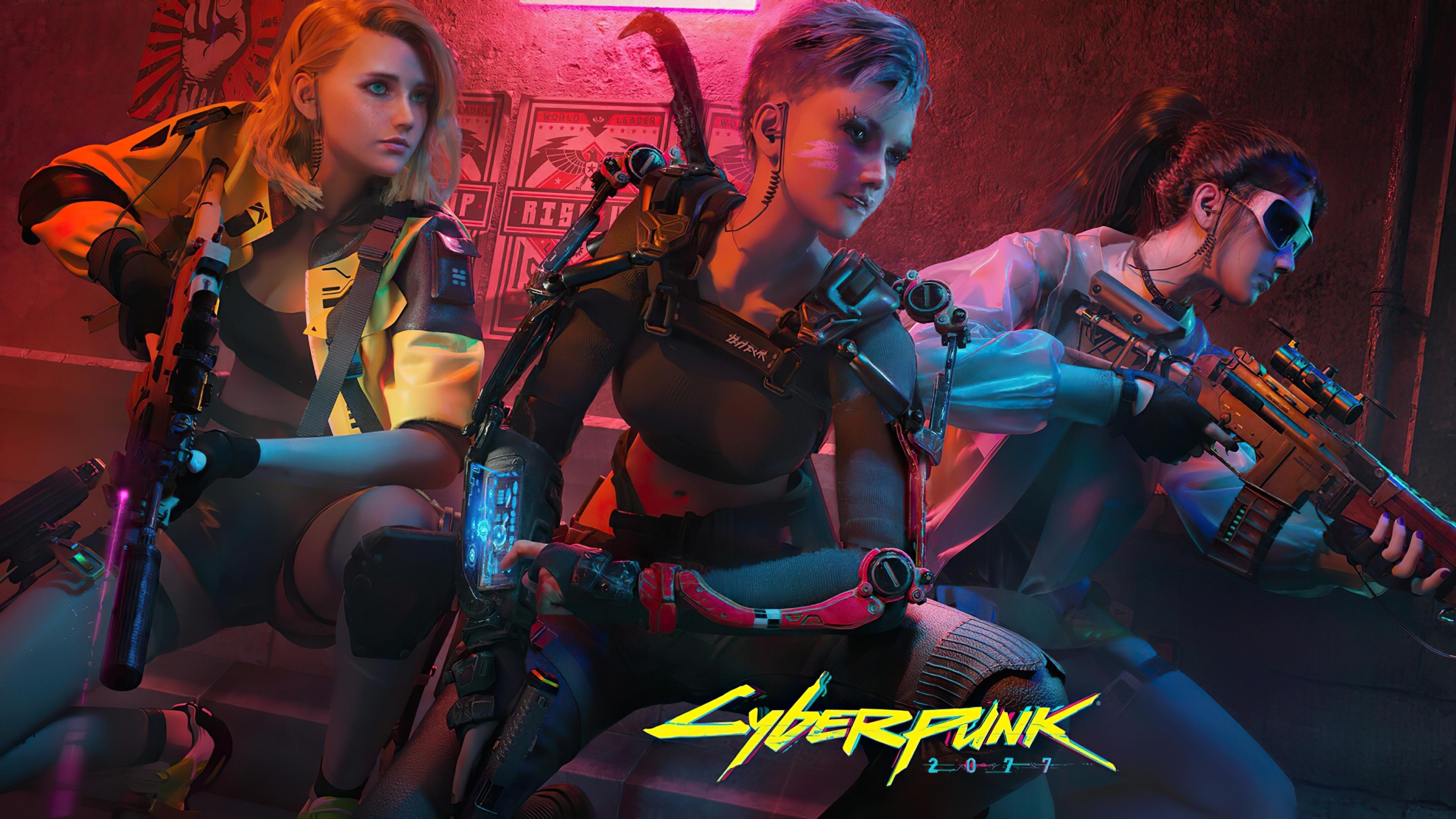 3840x2160 Cyberpunk 2077 Girl Team 4K Wallpaper, HD Games ...
