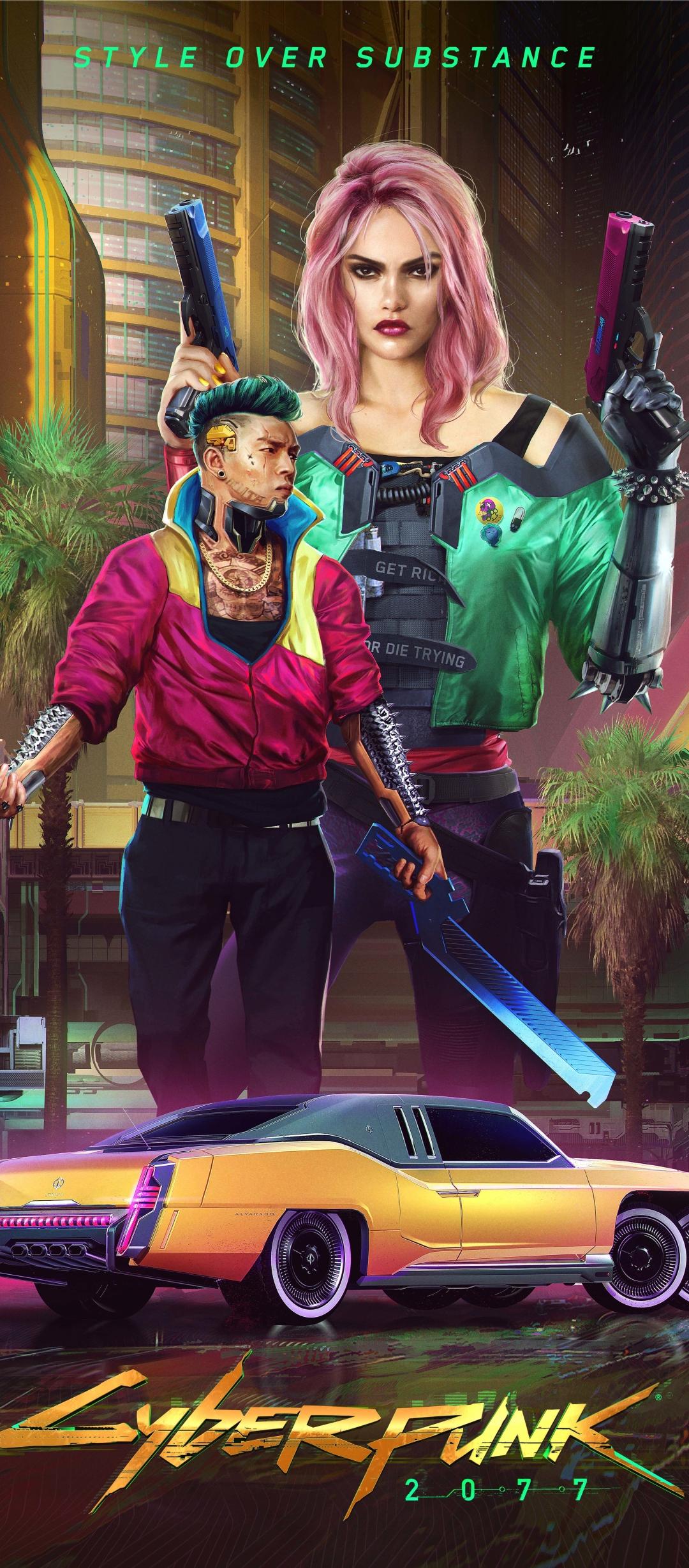 1080x2460 Cyberpunk 2077 Night City 1080x2460 Resolution ...
