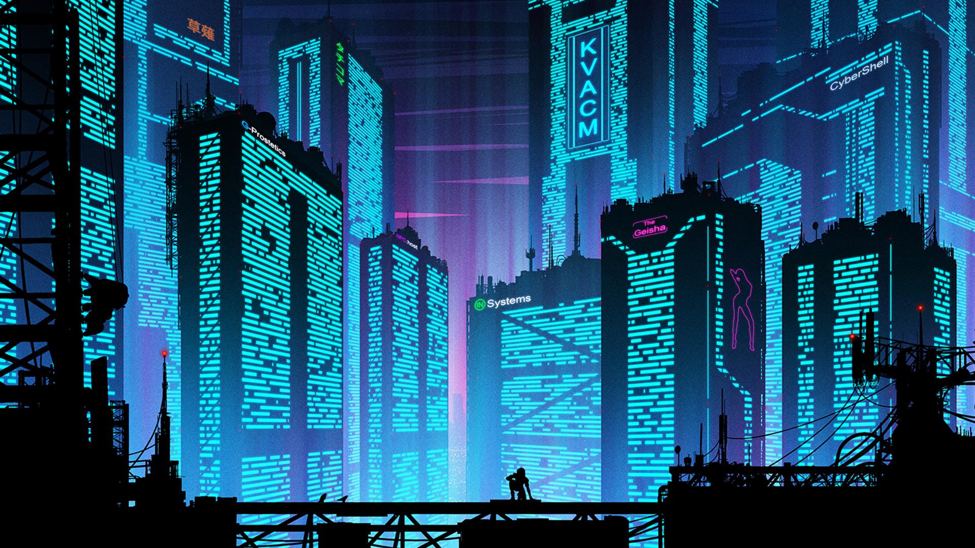 Cyberpunk Futuristic New Port City Wallpaper, HD City 4K ...