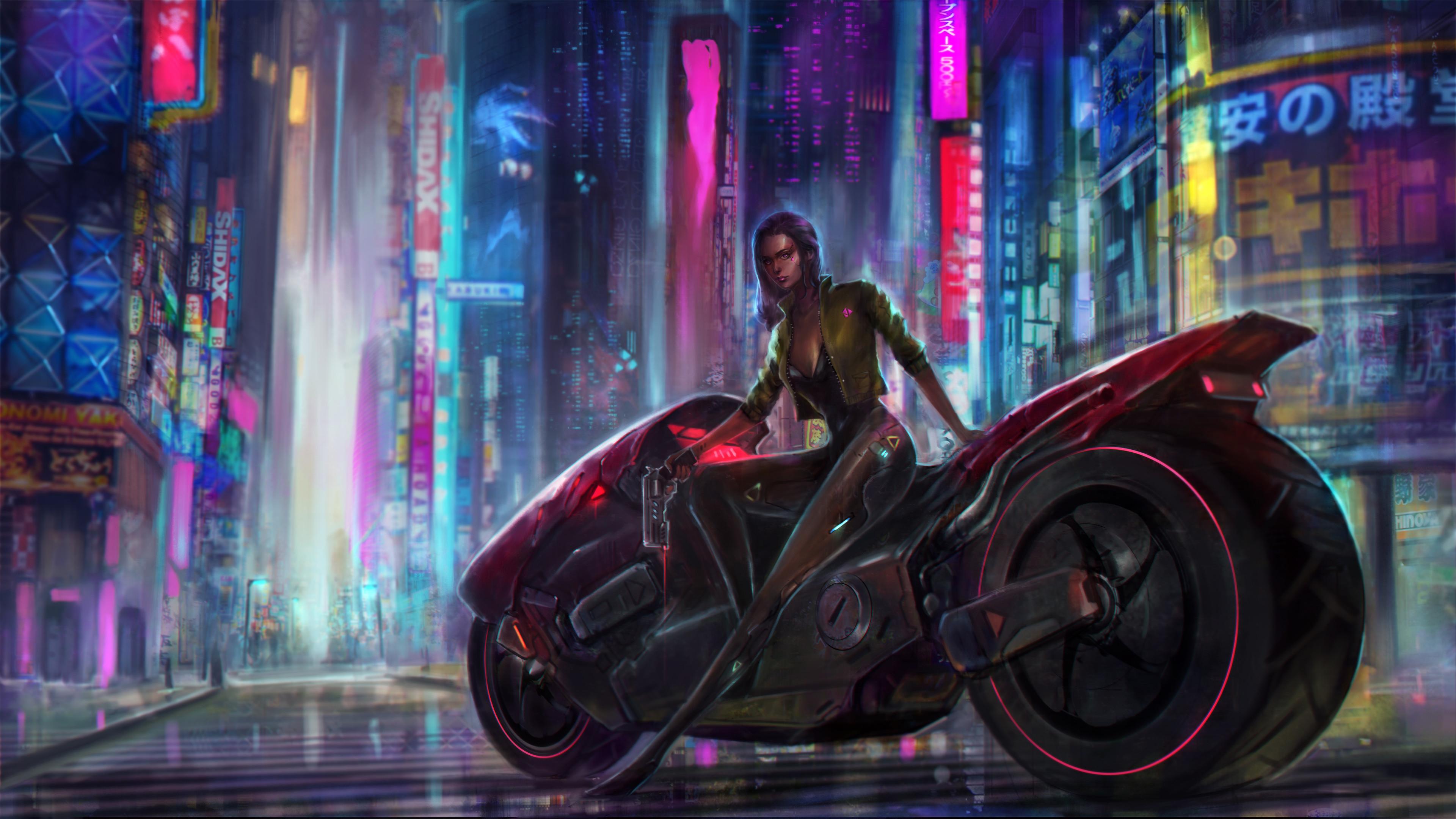 Cyberpunk Lonely Cyborg Illustration Wallpaper, HD Artist ...