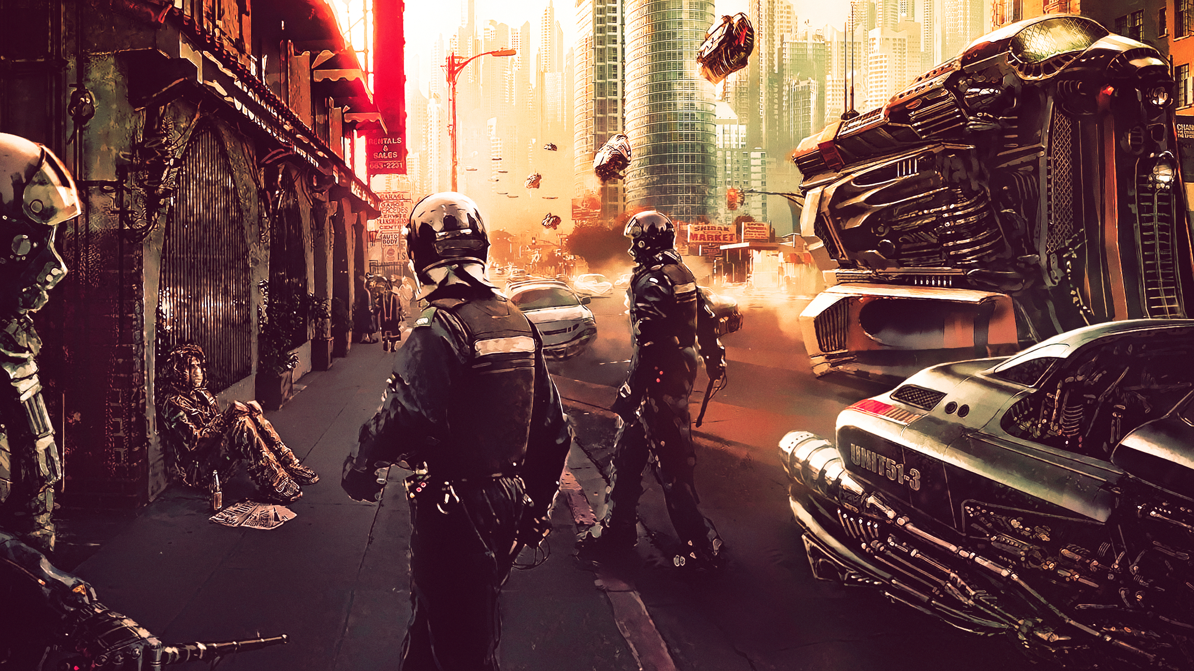 Download Cyberpunk Science Fiction Futuristic City And