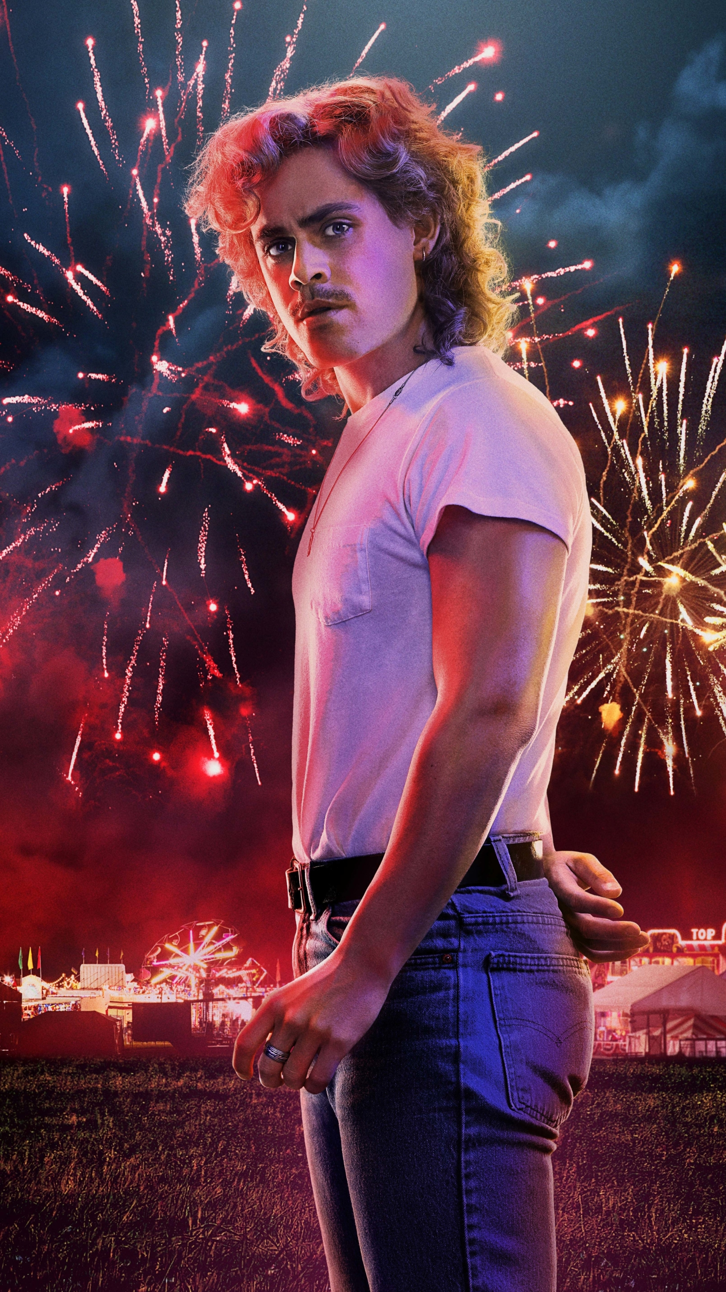 1440x2560 Dacre Montgomery Stranger Things 3 Poster Samsung