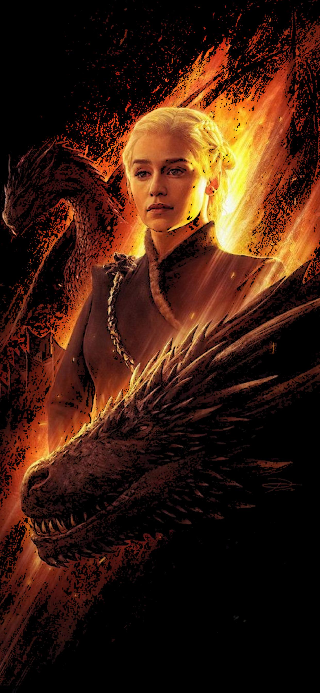 1242x2688 Daenerys And Dragons Iphone Xs Max Wallpaper Hd