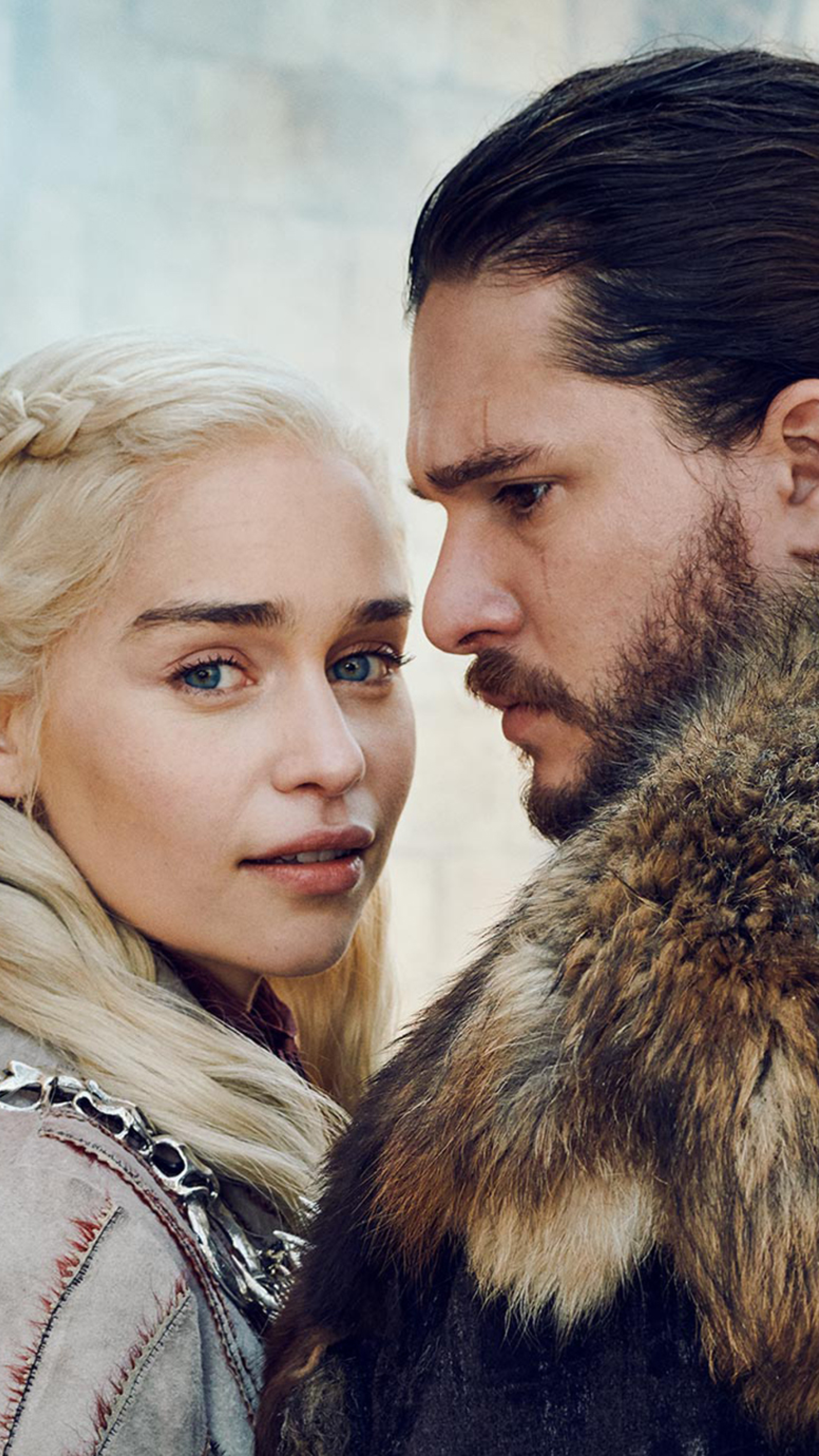 2160x3840 Daenerys Targaryen and Jon Snow GOT 8 Sony