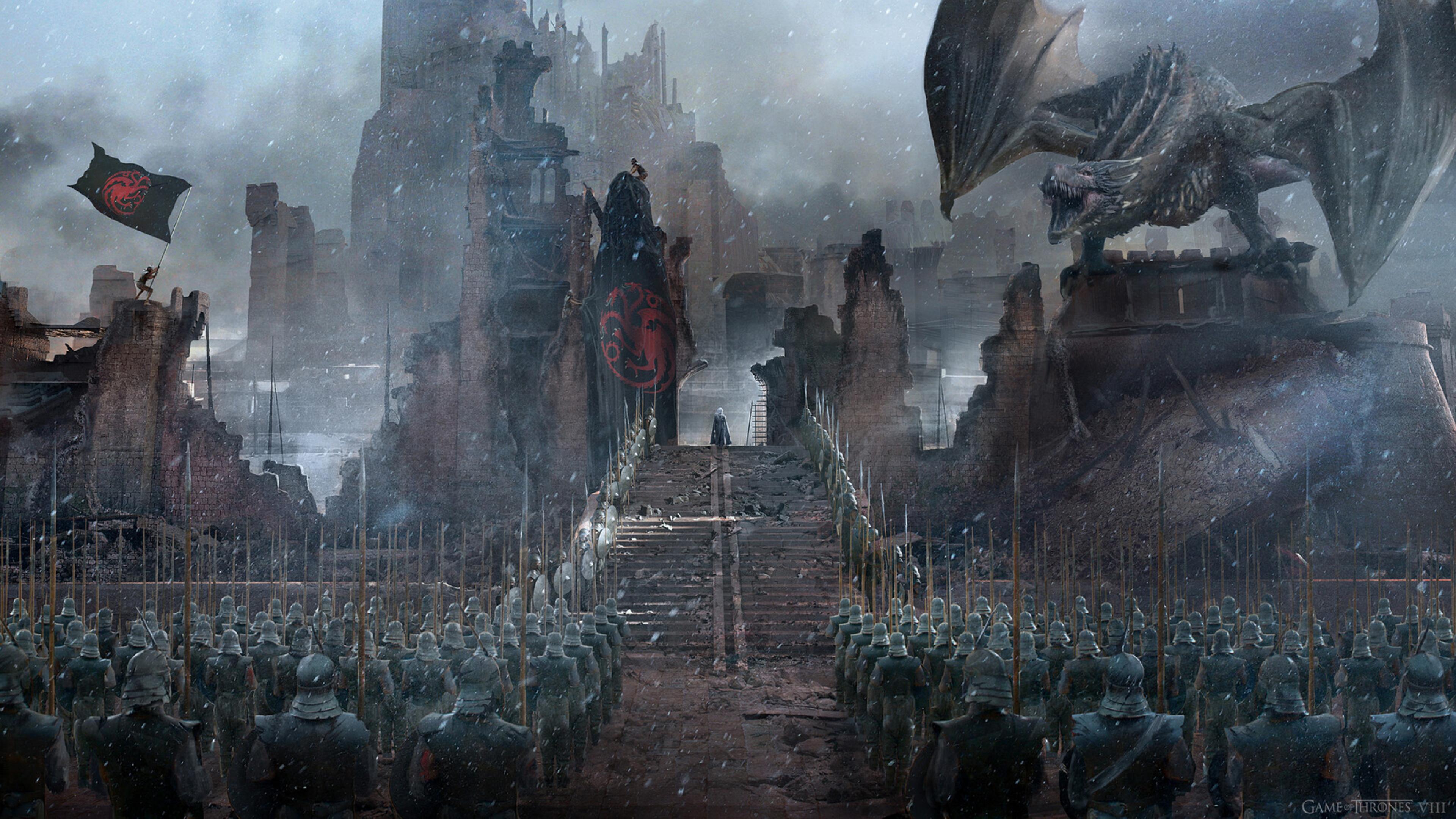 3840x2160 Daenerys Targaryen Final Episode 4k Wallpaper Hd