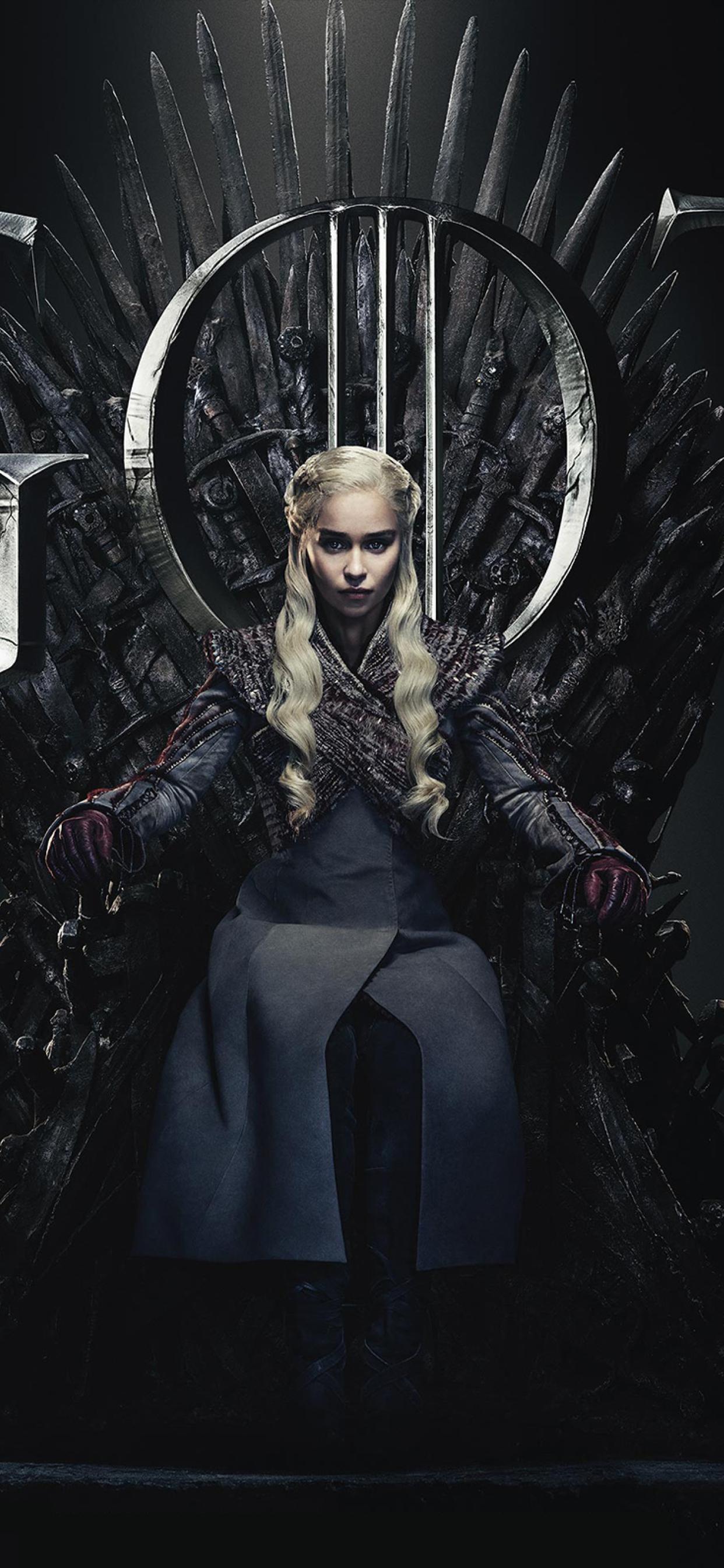 1242x2688 Daenerys Targaryen Game Of Thrones Season 8 Poster