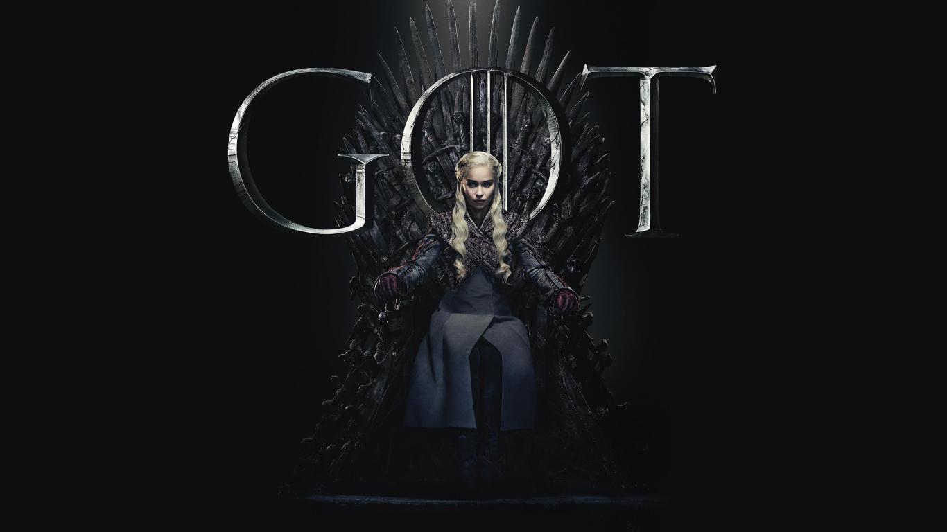 1366x768 Daenerys Targaryen Game Of Thrones Season 8 Poster