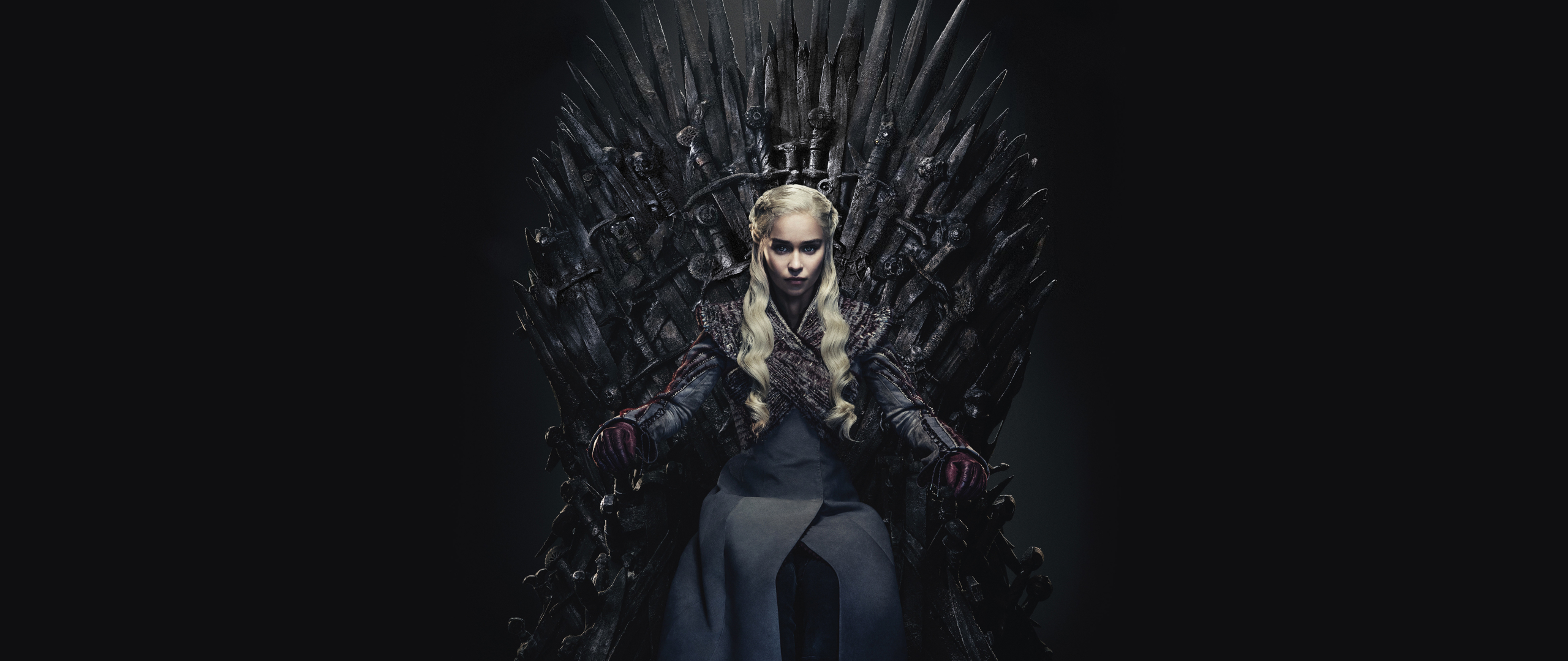 Daenerys Targaryen Queen Of the Ashes in The Iron Throne Wallpaper in 2560x1080 Resolution
