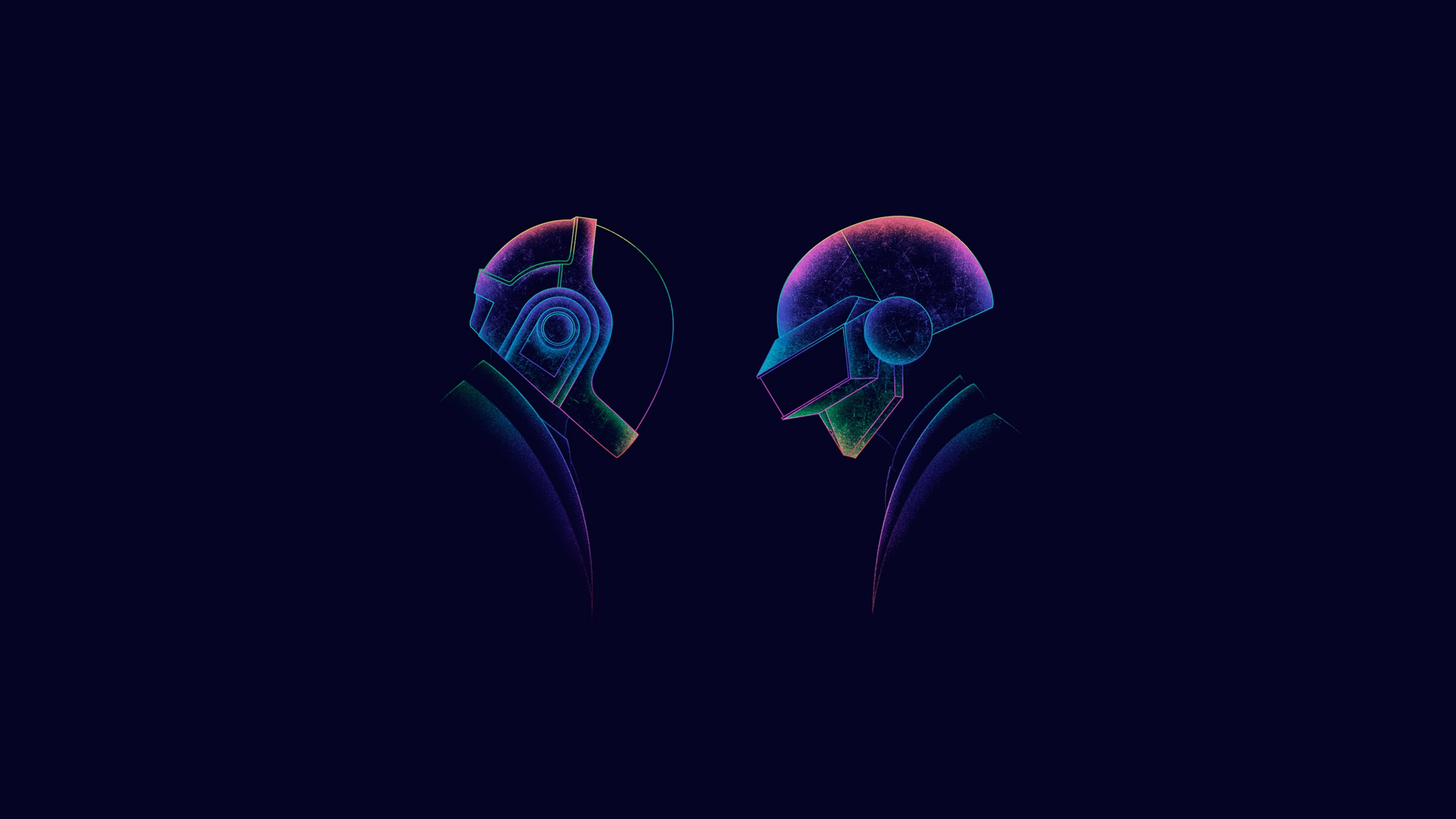 Daft Punk Minimal Dj Art, HD 4K Wallpaper