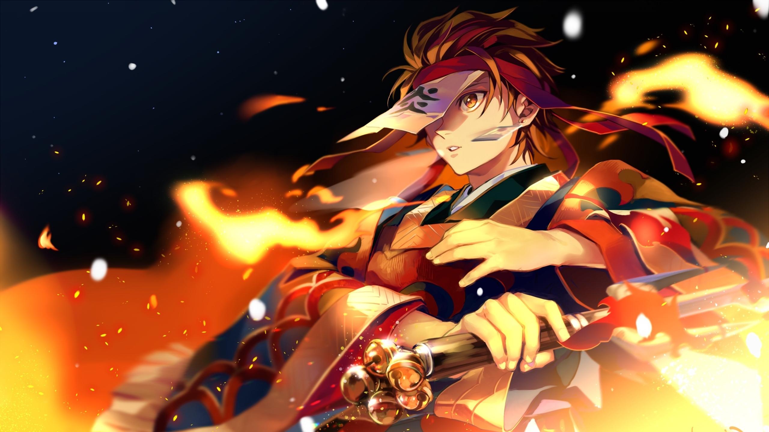 2560x1440 Dance Of The Fire God Hinokami Kagura 1440p