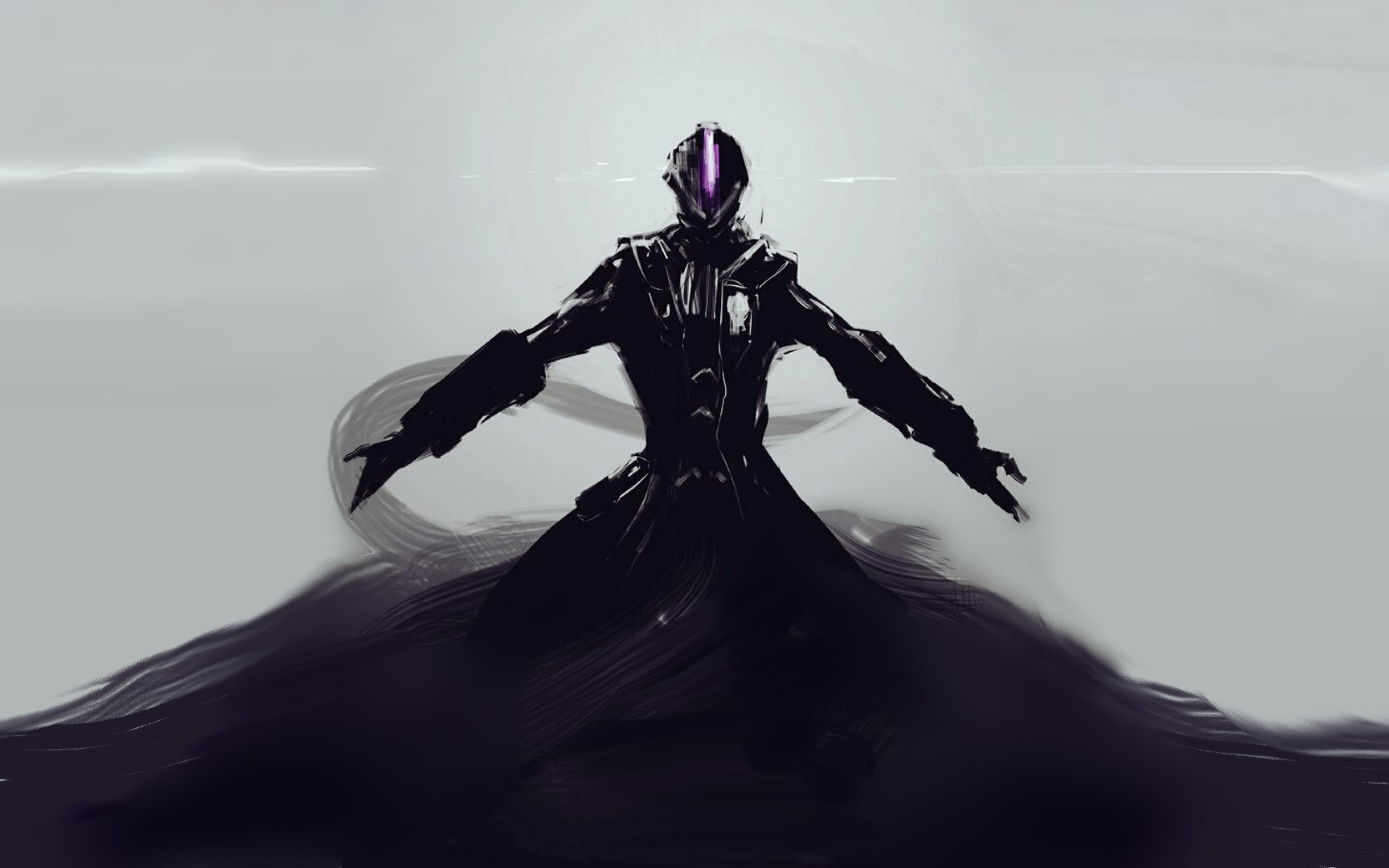 anime dark wallpapers 4k: Dark Anime Creature Figure Art, Full HD Wallpaper