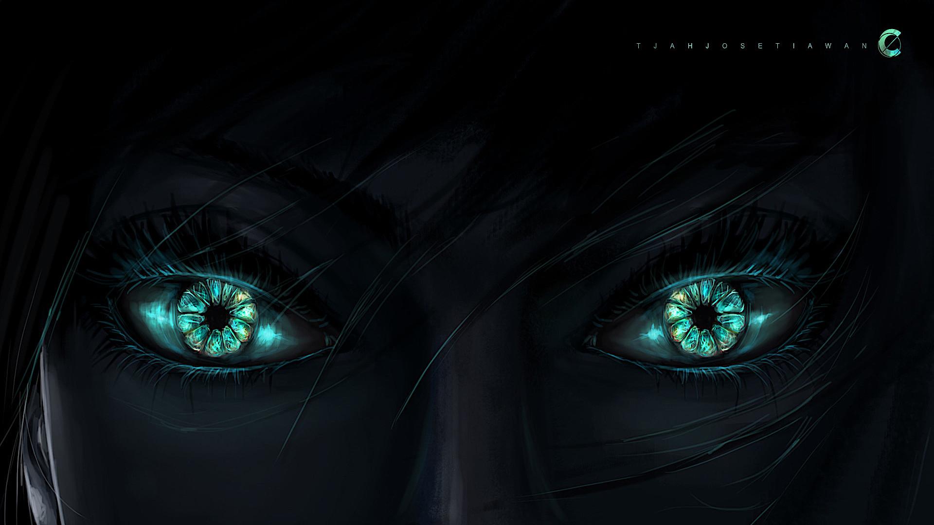 1920x1200 Dark Green Eyes 1200p Wallpaper Hd Artist 4k