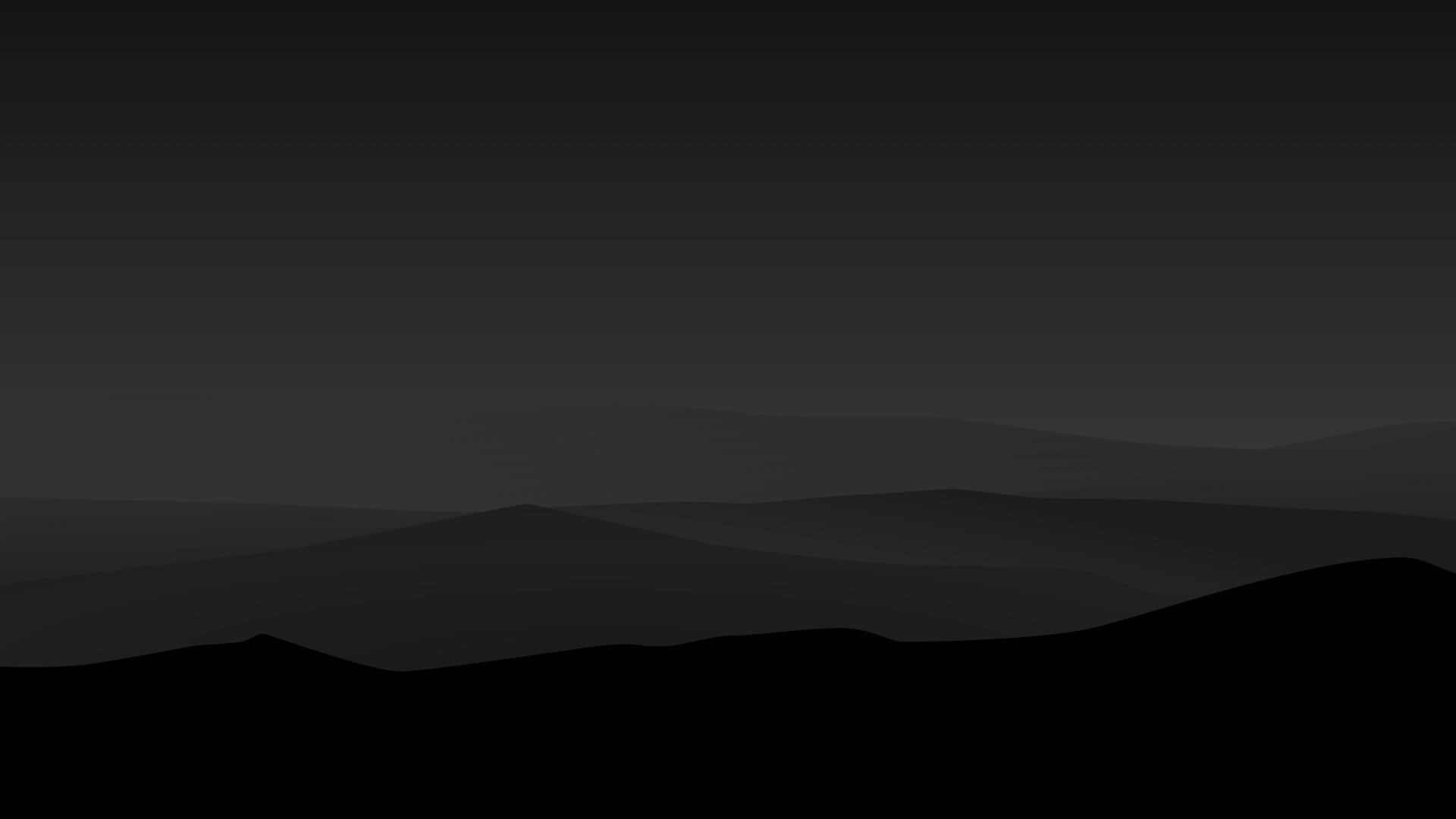1920x1080 Dark Minimal Mountains At Night 1080P Laptop ...