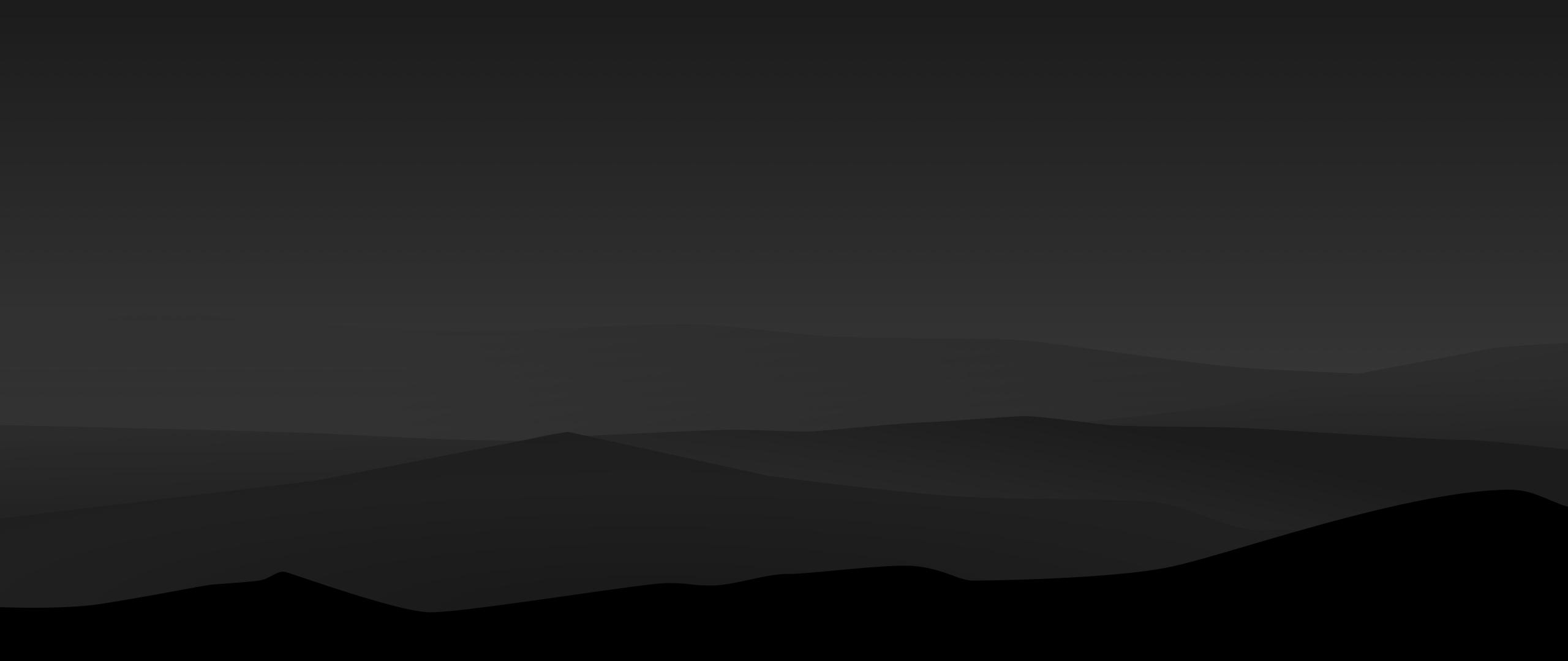 2560x1080 Dark Minimal Mountains At Night 2560x1080 ...