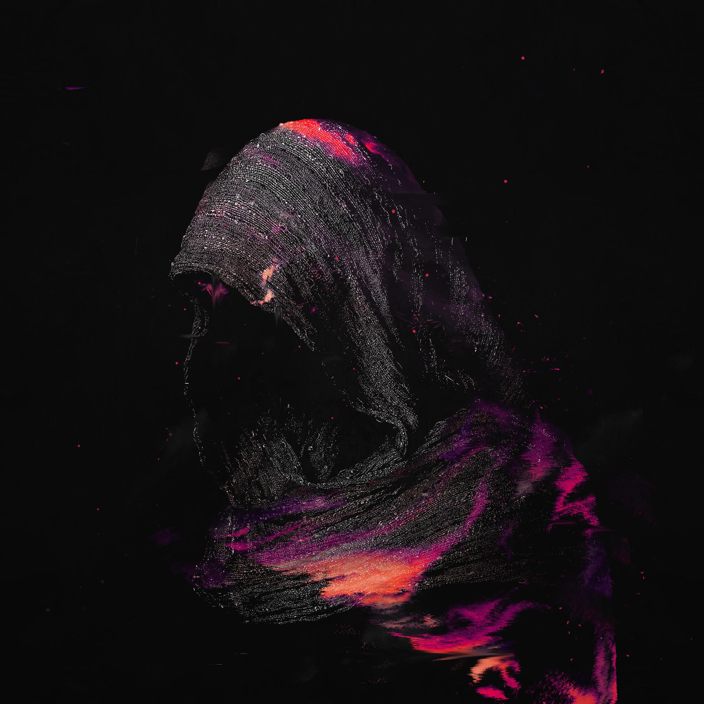 Dark Shadow In Bloomy Night Art, HD 4K Wallpaper