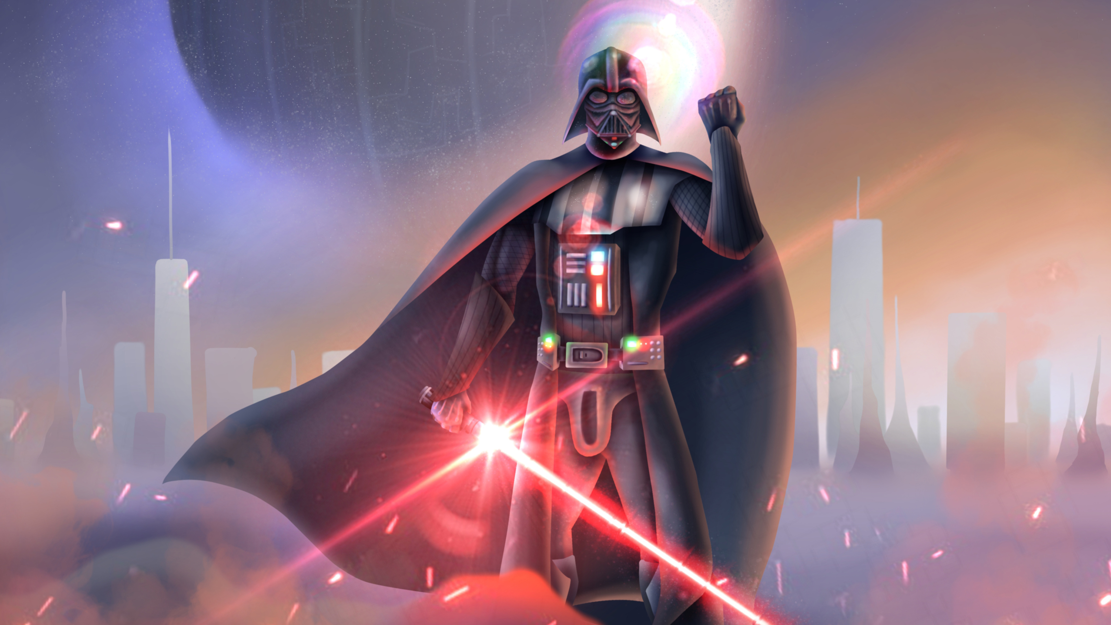 3840x2160 Darth Vader Lightsaber Star Wars 4k Wallpaper Hd Movies 4k Wallpapers Images Photos And Background
