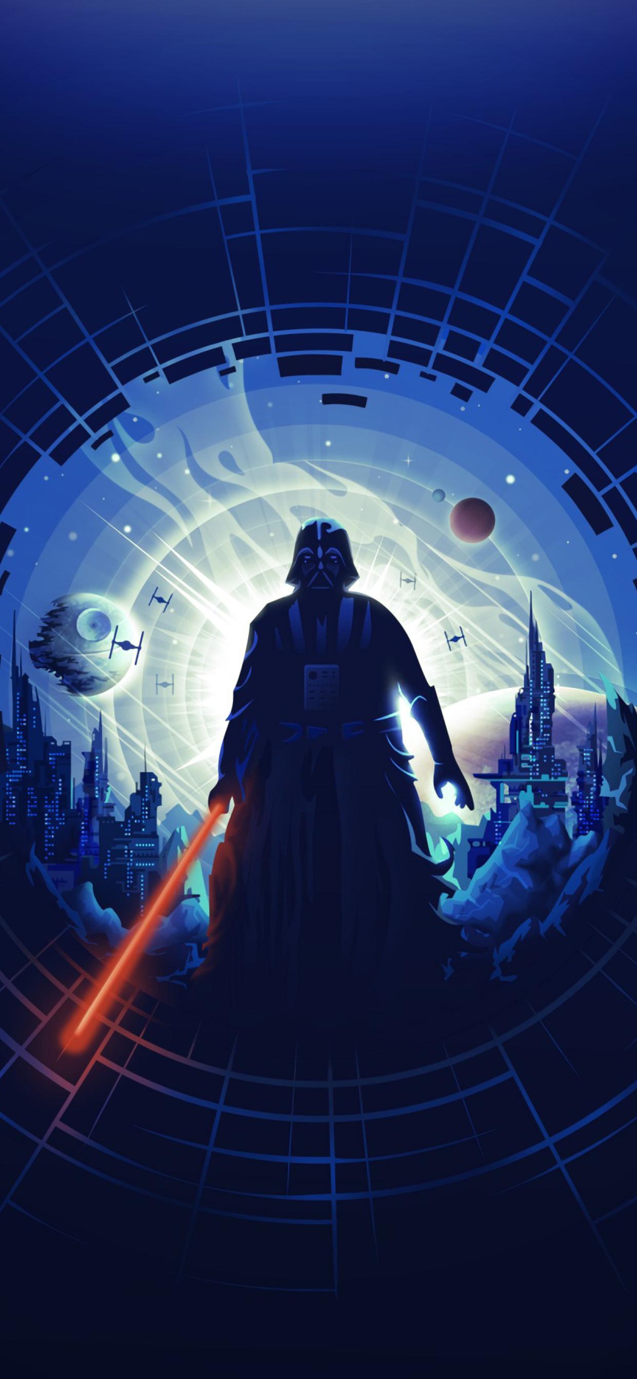 1242x2688 Darth Vader Minimalist Iphone Xs Max Wallpaper Hd