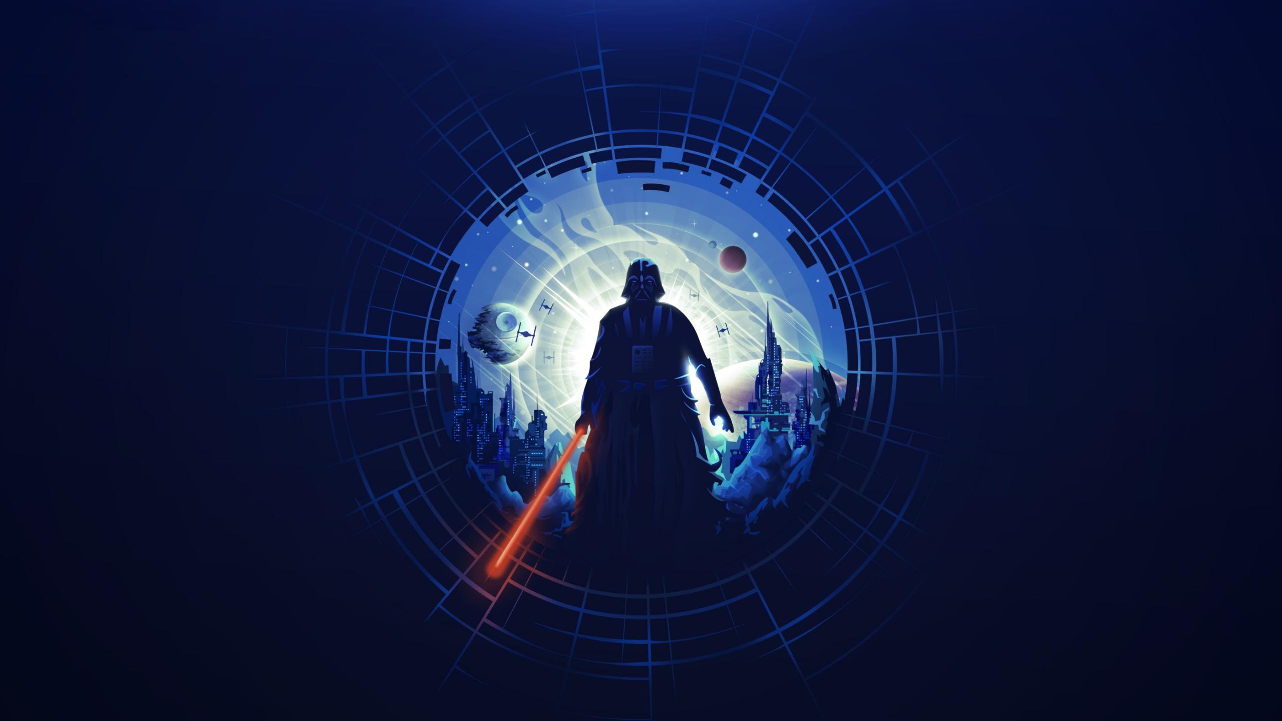 2560x1440 Darth Vader Minimalist 1440p Resolution Wallpaper