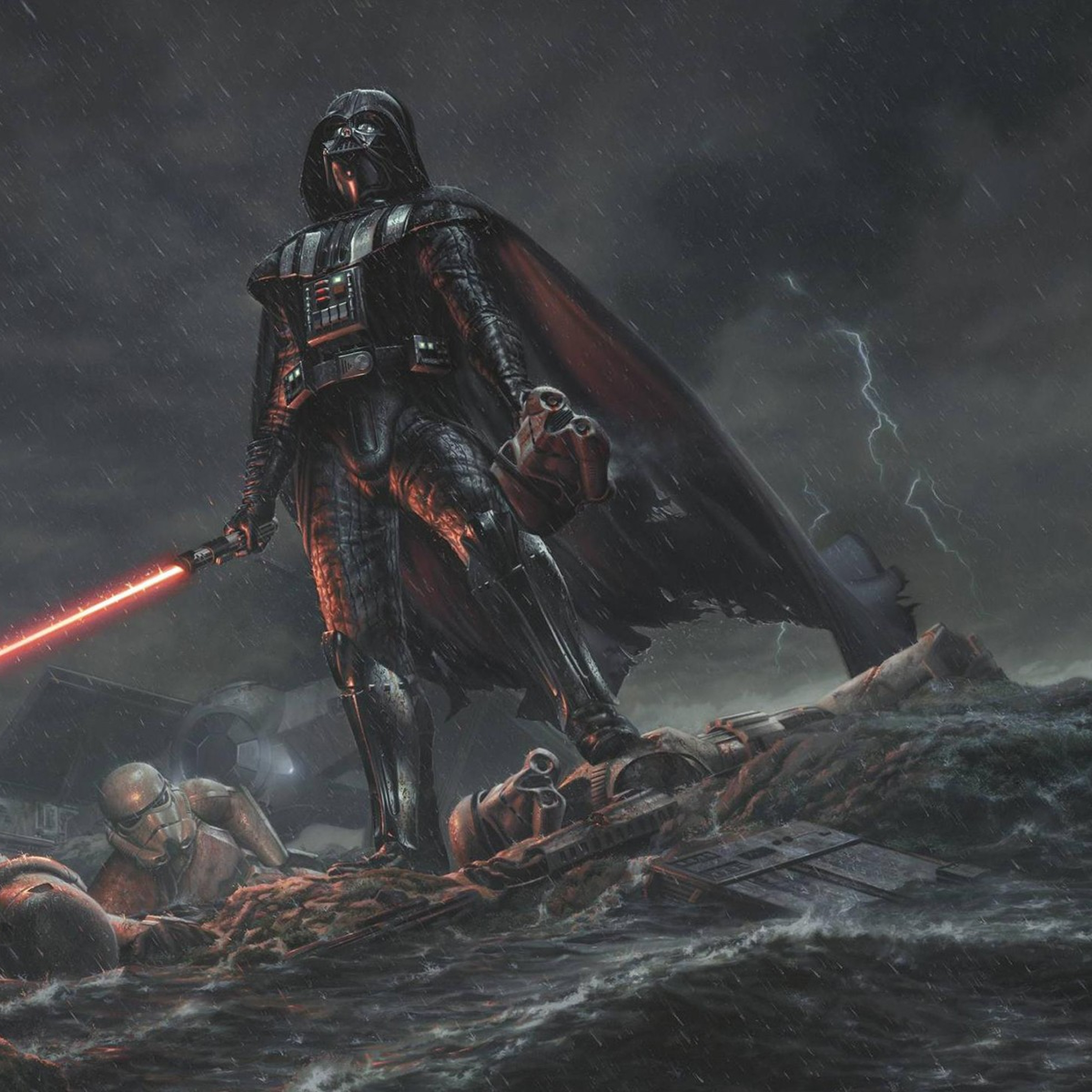 Darth Vader Star Wars Stormtrooper, HD 4K Wallpaper