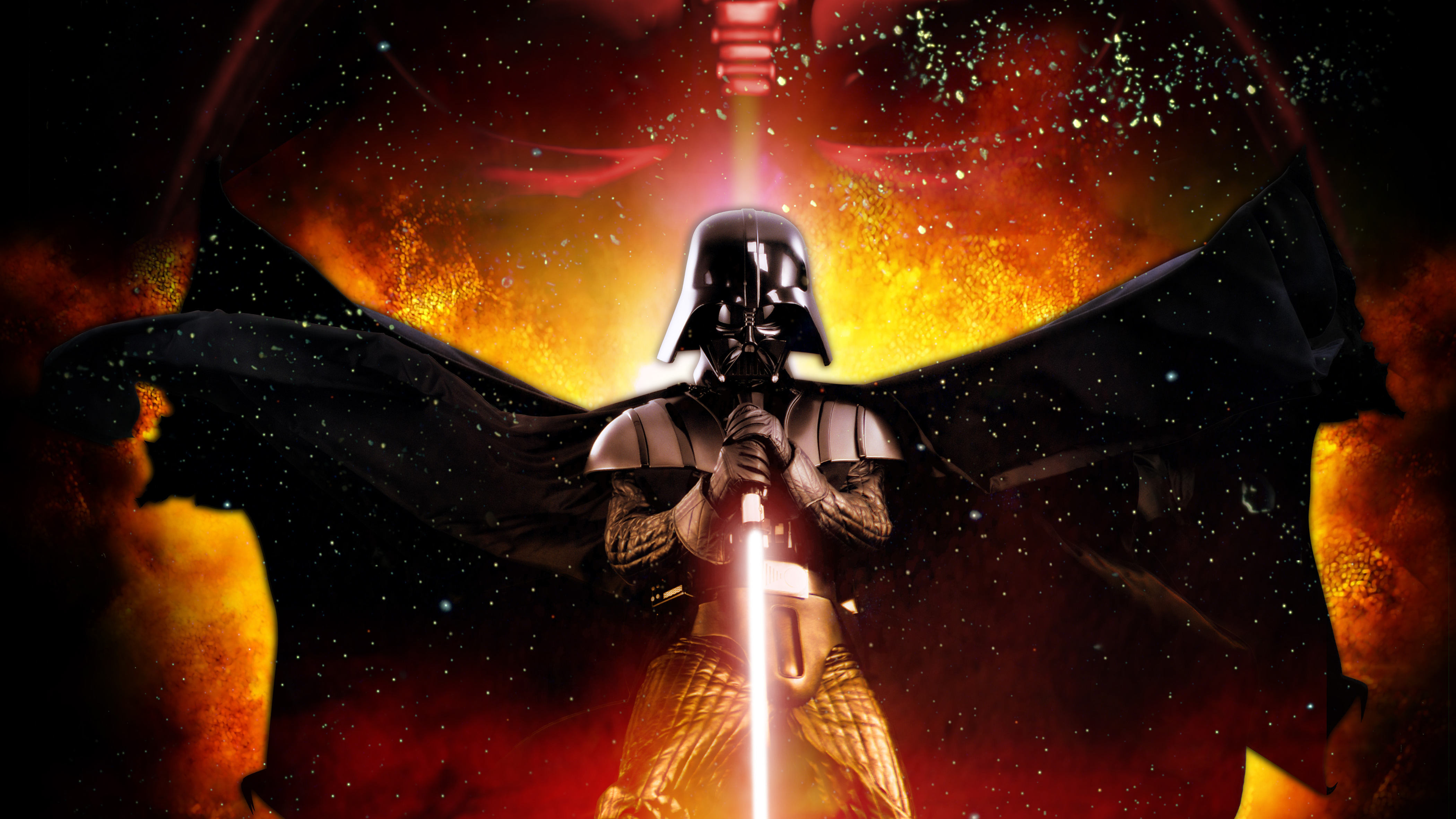 Darth Vader With Lightsaber Wallpaper Hd Movies 4k Wallpapers Images Photos And Background