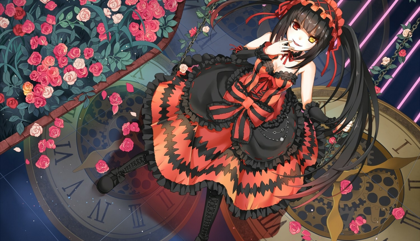 1336x768 Date A Live Tokisaki Kurumi Girl Hd Laptop Wallpaper