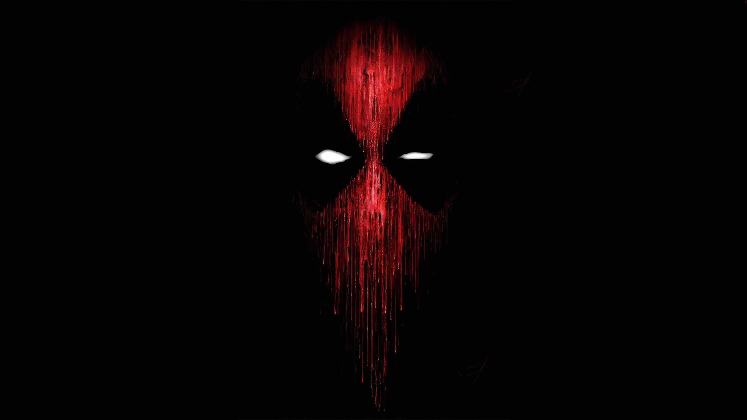 2560x1440 Deadpool Mask Minimalist 1440P Resolution ...