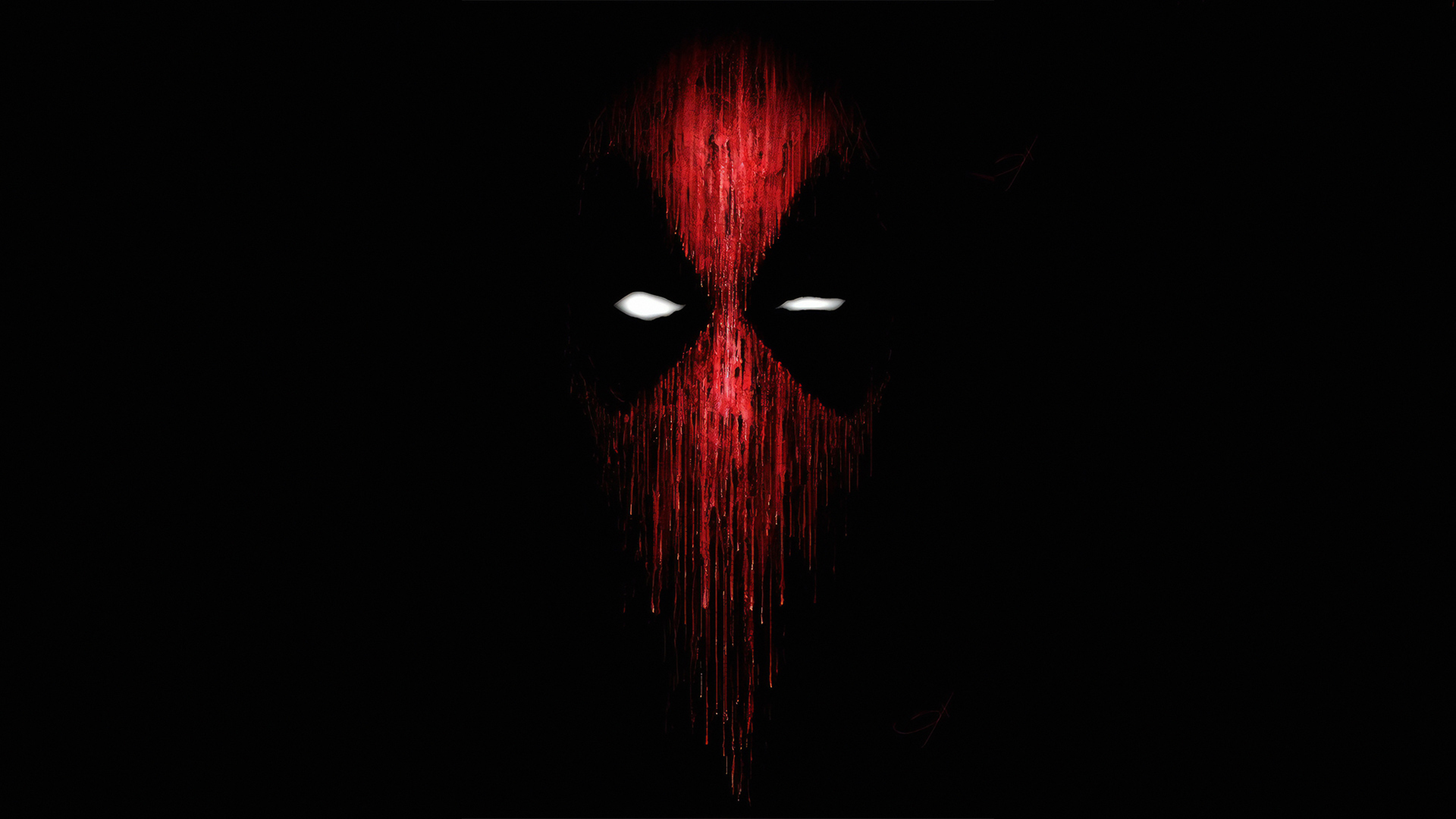 3840x2160 Deadpool Mask Minimalist 4k Wallpaper Hd Minimalist 4k Wallpapers Images Photos And Background