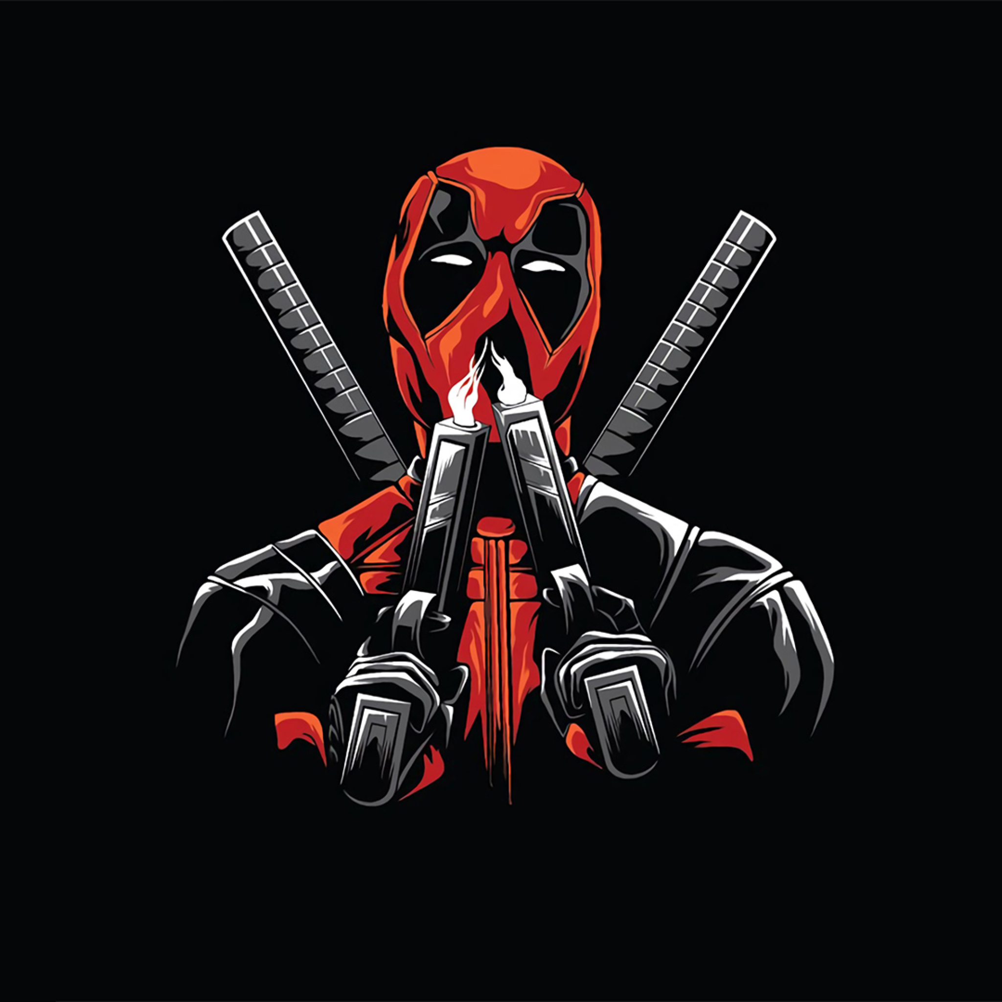 2048x2048 Deadpool Minimal Ipad Air Wallpaper, HD ...