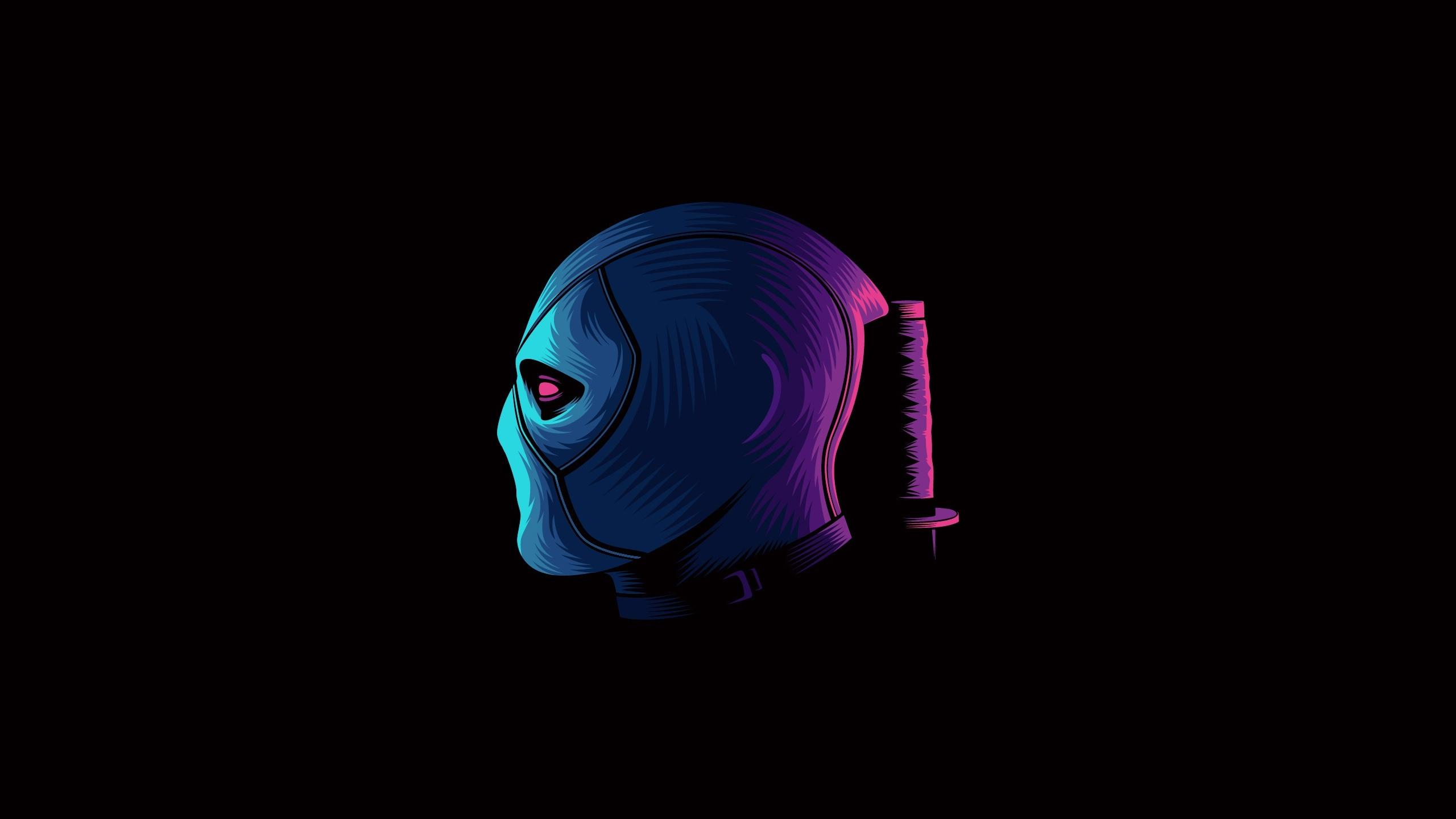 Deadpool Neon Minimal Wallpaper Hd Minimalist 4k Wallpapers