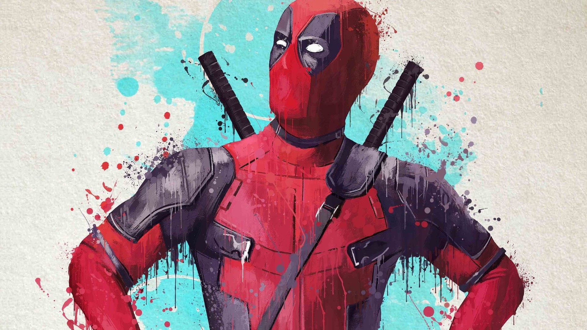 1920x1080 Deadpool Splash Art 1080P Laptop Full HD ...