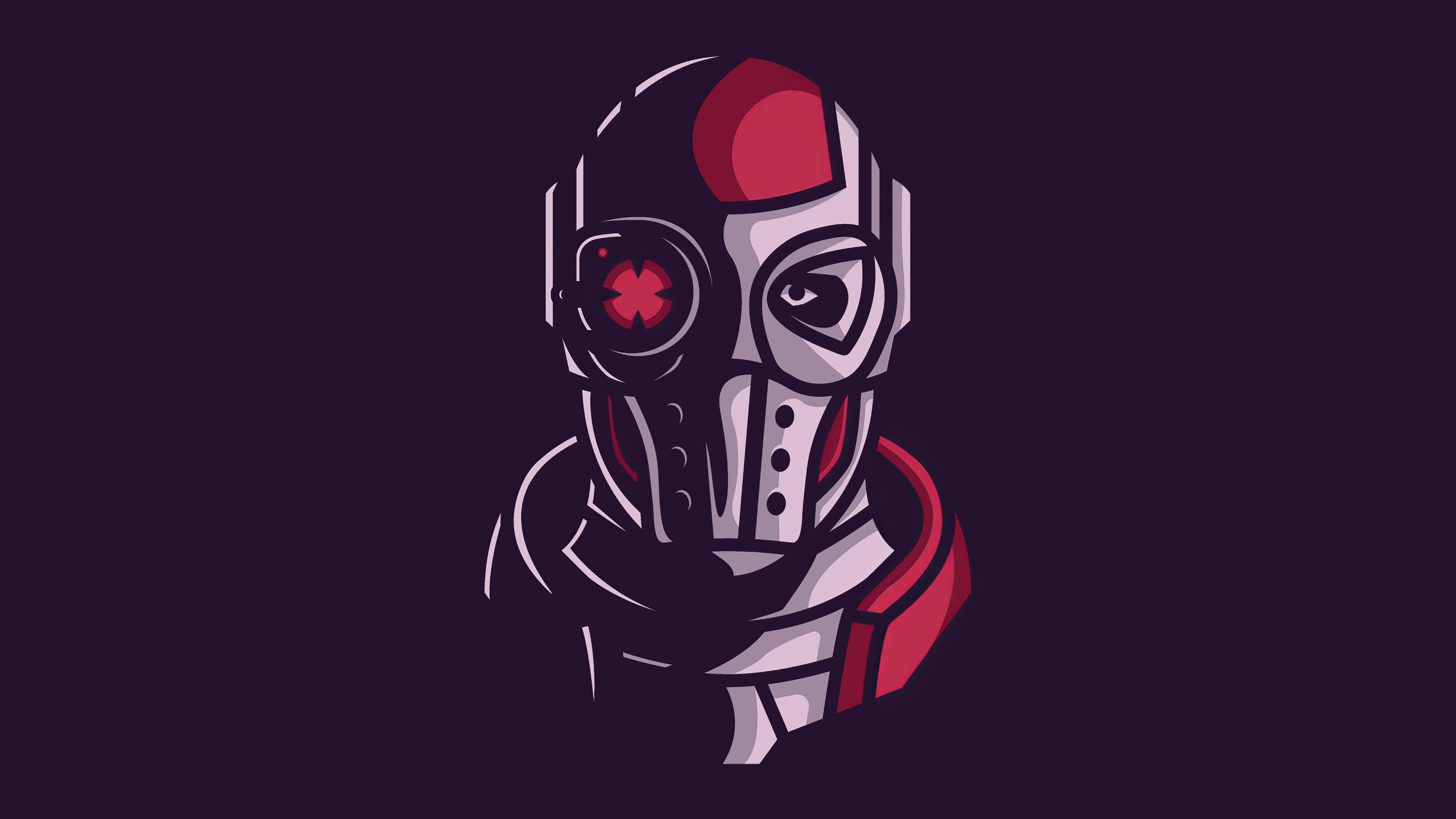 2560x1440 Deadshot Face Minimal 1440p Resolution Wallpaper