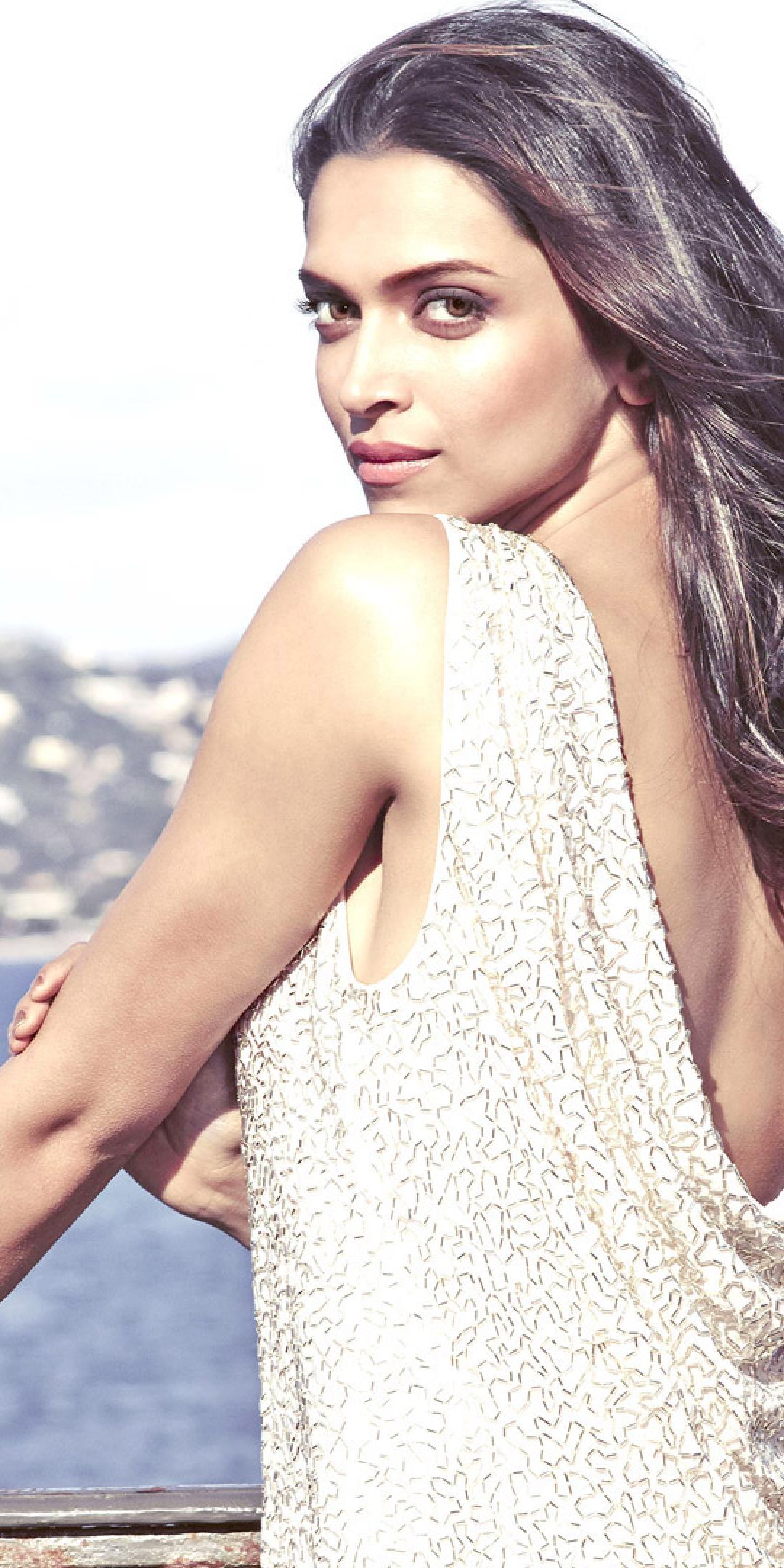 1080x2160 Deepika Padukone Hot White Dress Wallpaper One ...