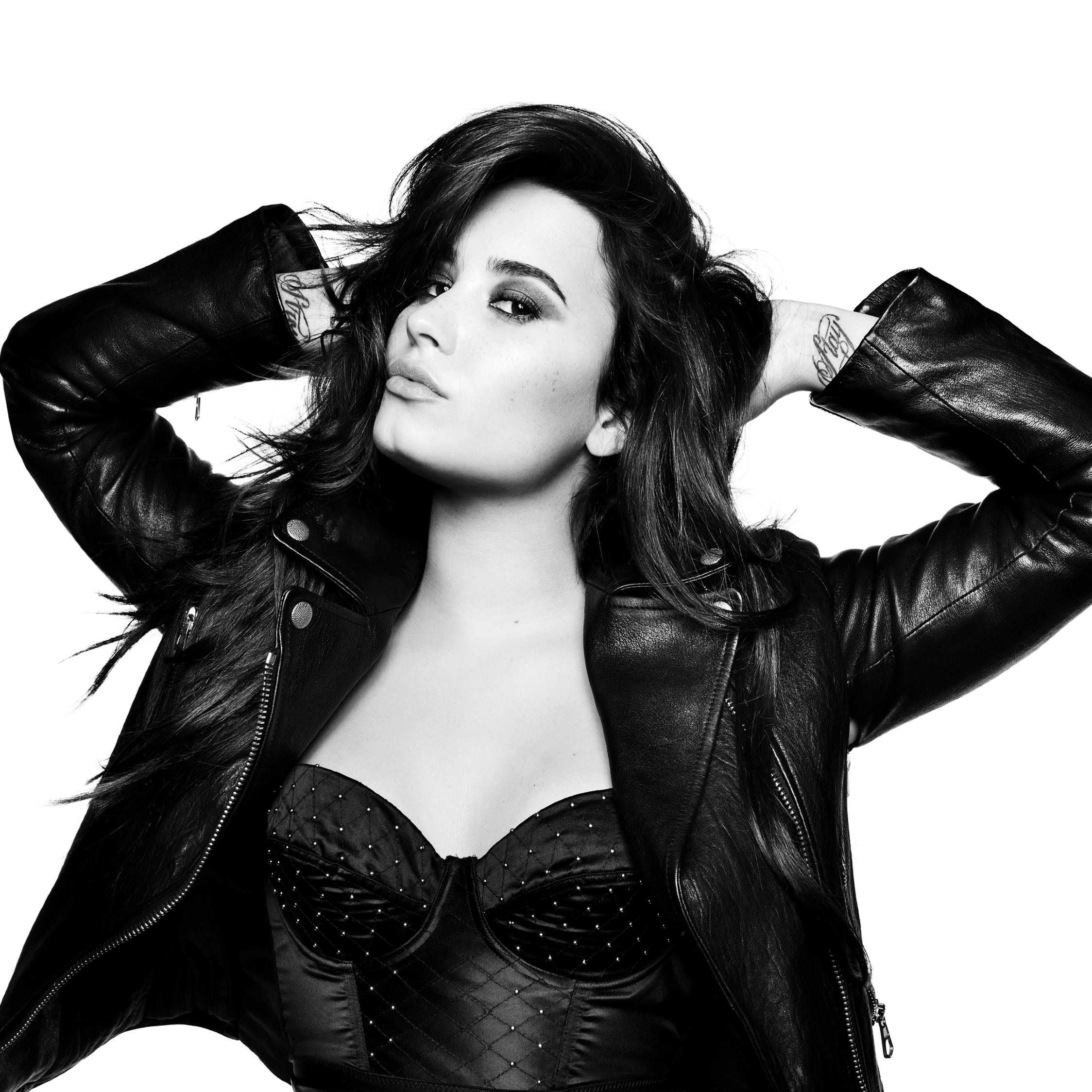 Demi Lovato Wallpaper: Demi Lovato 2018 Monochrome, HD 4K Wallpaper