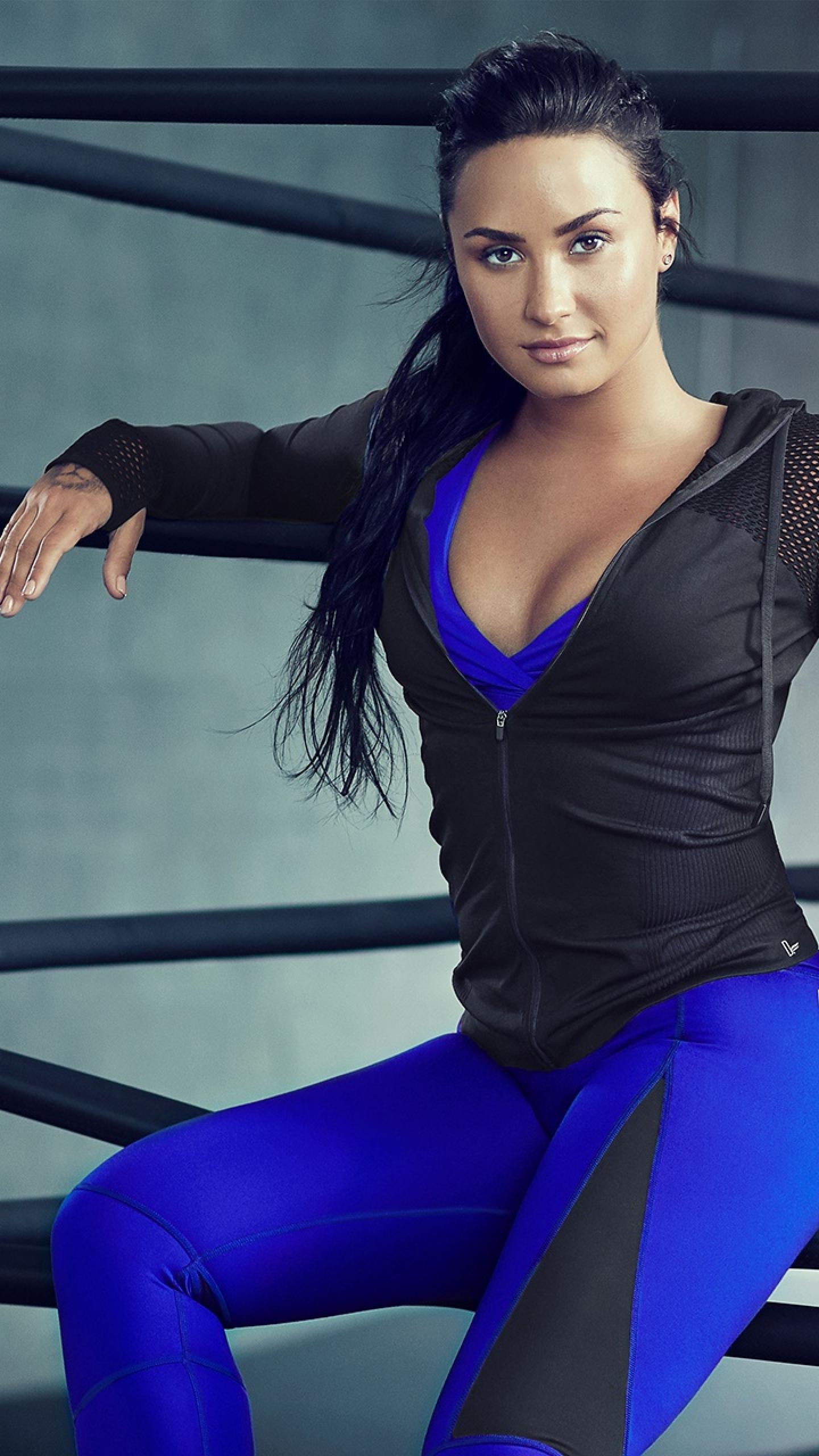 Demi Lovato Singer Fitness Photoshoot Full Hd 2k Wallpaper