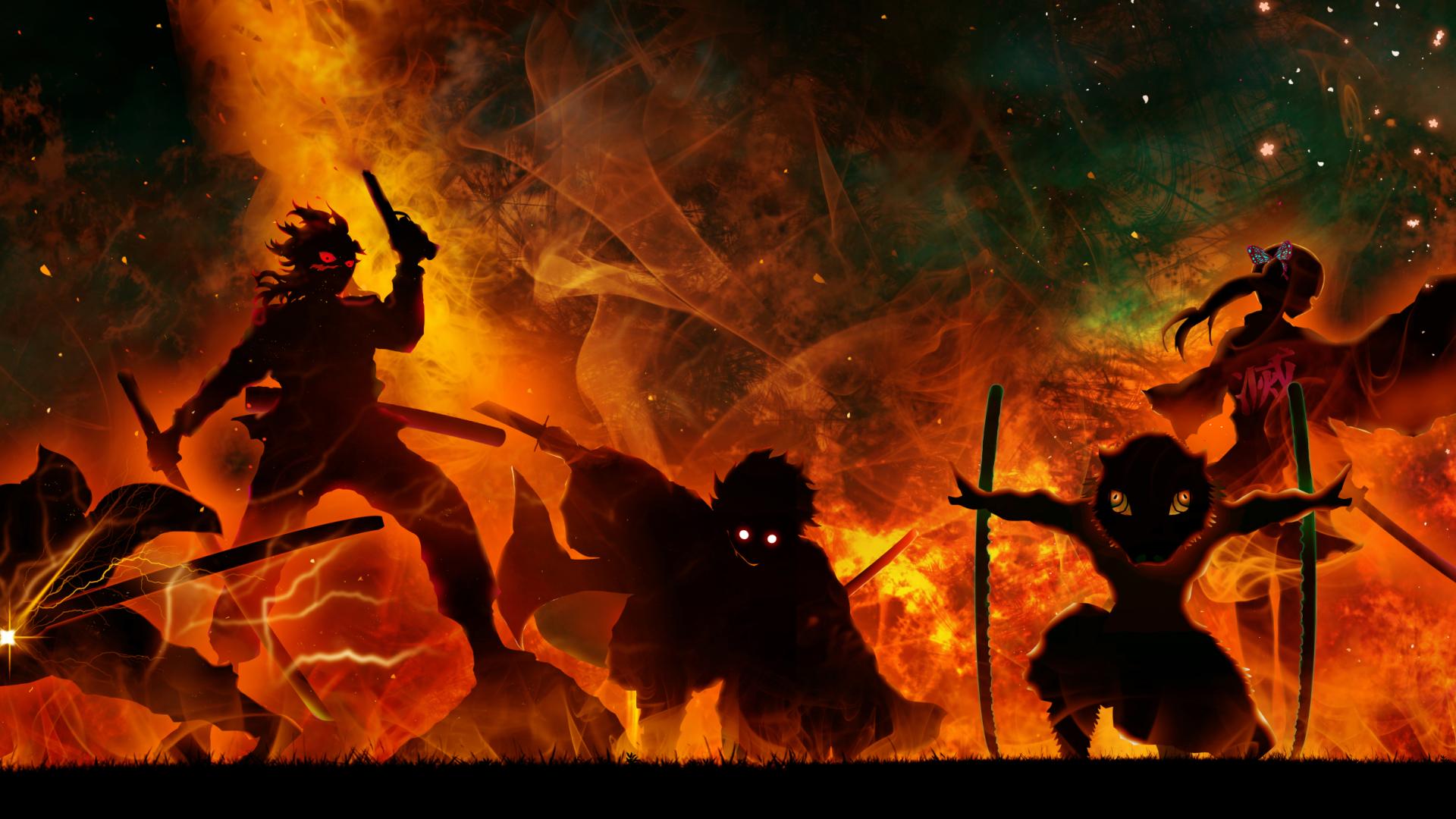 1920x1080 Demon Slayer Art 1080P Laptop Full HD Wallpaper, HD Anime 4K Wallpapers, Images ...