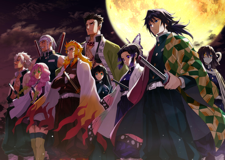Demon Slayer Kimetsu no Yaiba 4K Characters Wallpaper, HD ...