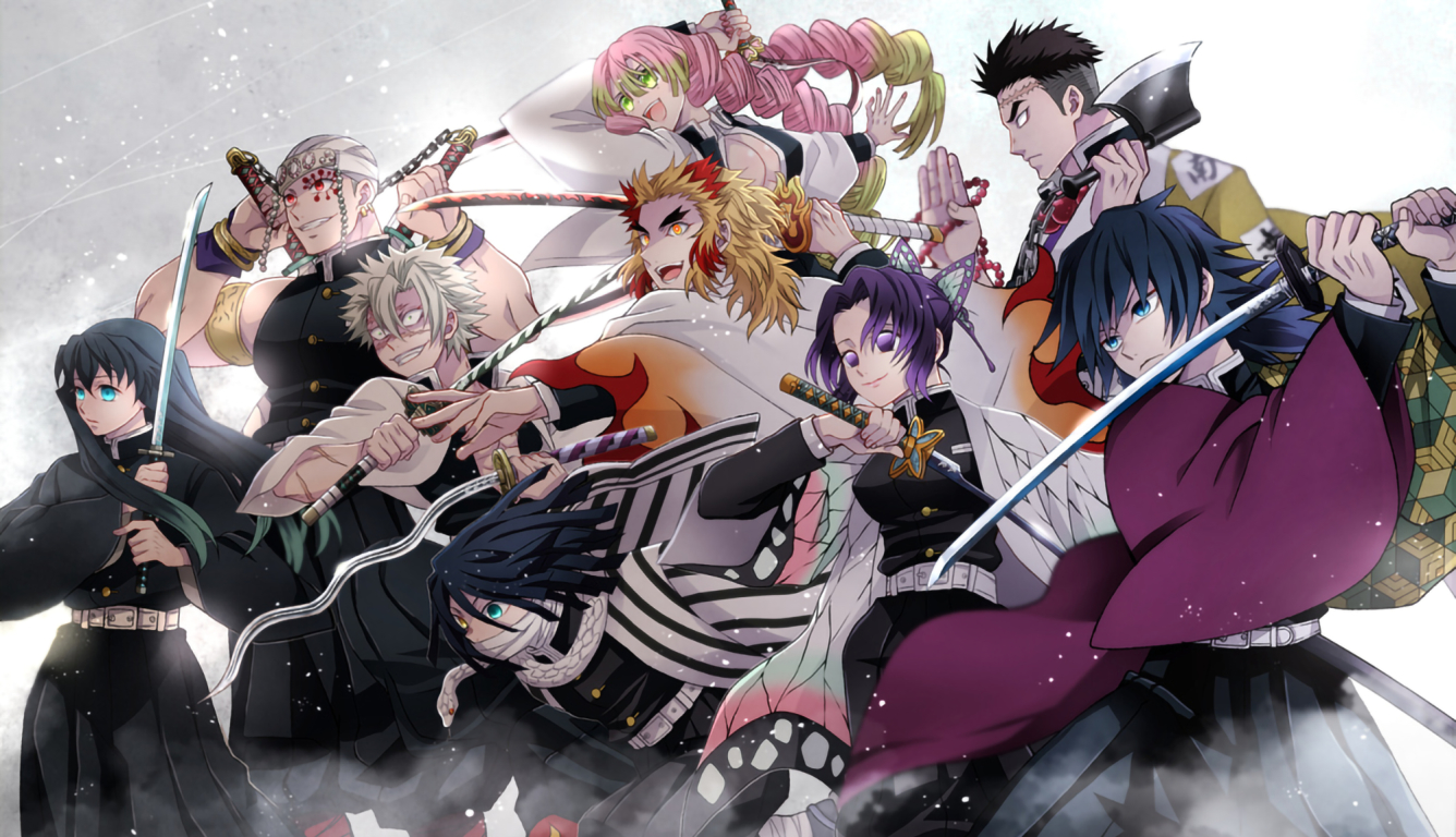 1336x768 Demon Slayer Kimetsu No Yaiba Team Hd Laptop Wallpaper Hd Anime 4k Wallpapers Images Photos And Background