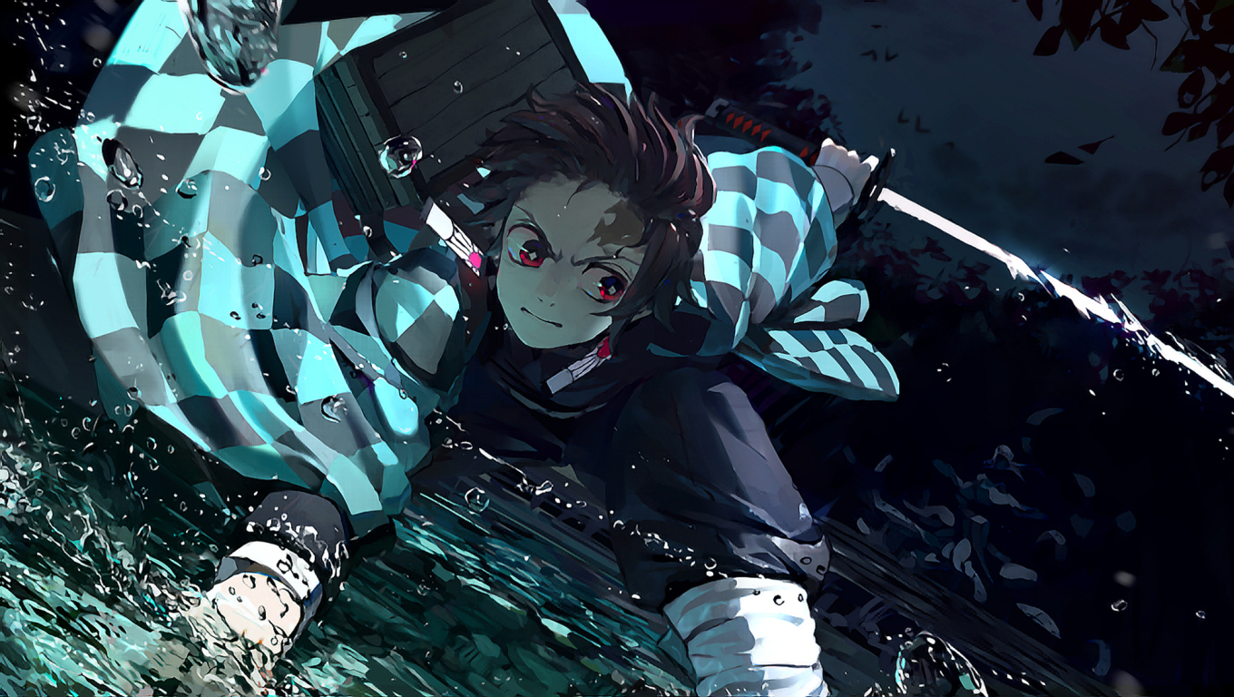 1360x768 Demon Slayer Tanjirou Kamado Desktop Laptop HD Wallpaper, HD Anime 4K Wallpapers ...