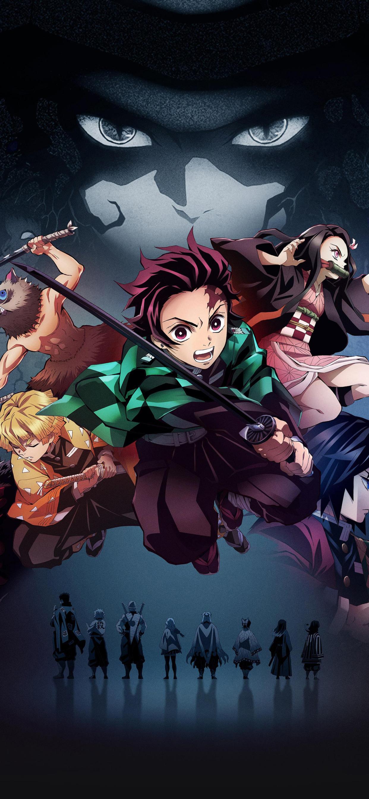 1242x2688 Demon Slayer Iphone XS MAX Wallpaper, HD Anime ...