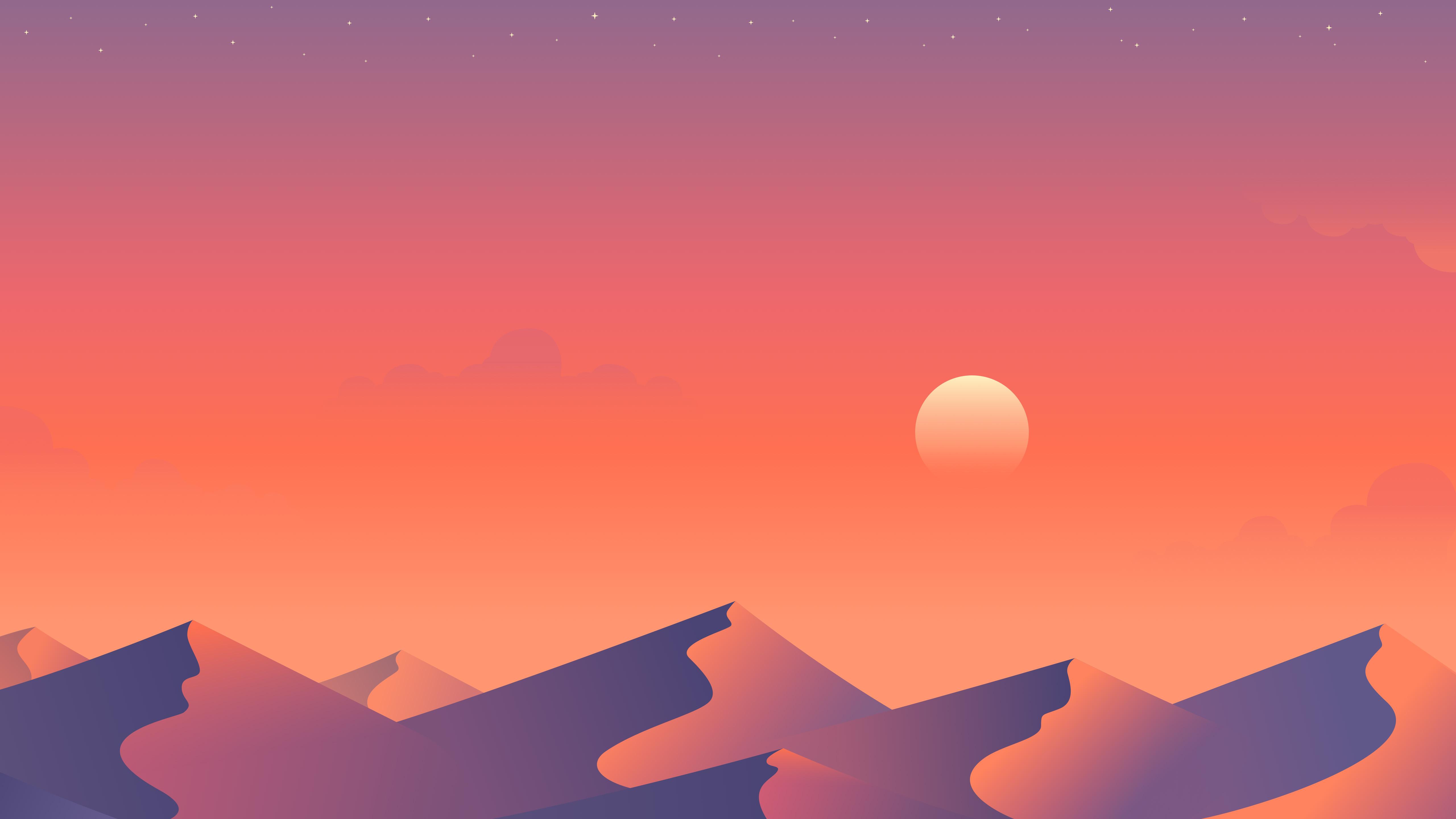 Desert Sun Day Minimalism Wallpaper Hd Minimalist 4k