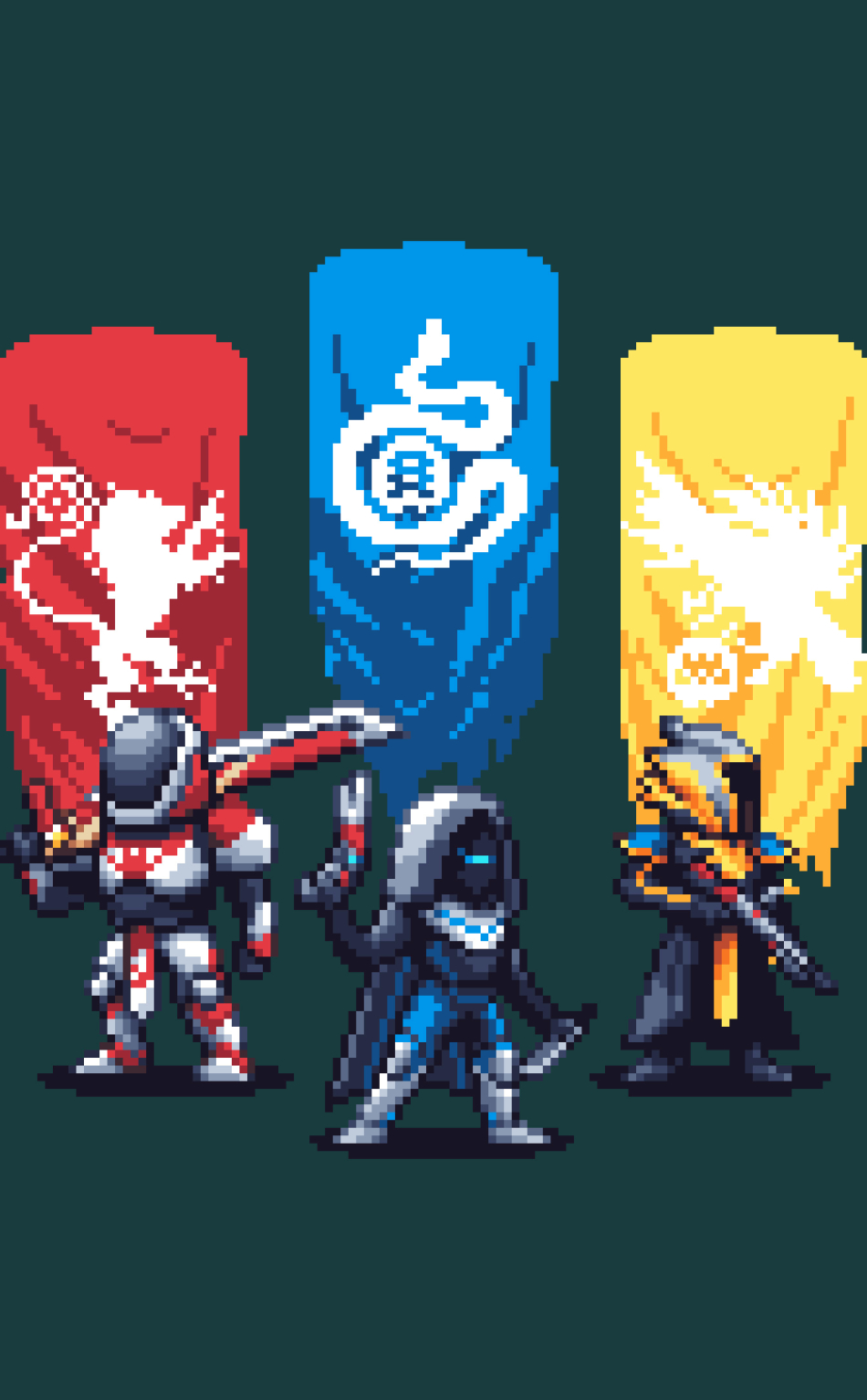 Destiny 2 Pixel Artwork, HD 4K Wallpaper