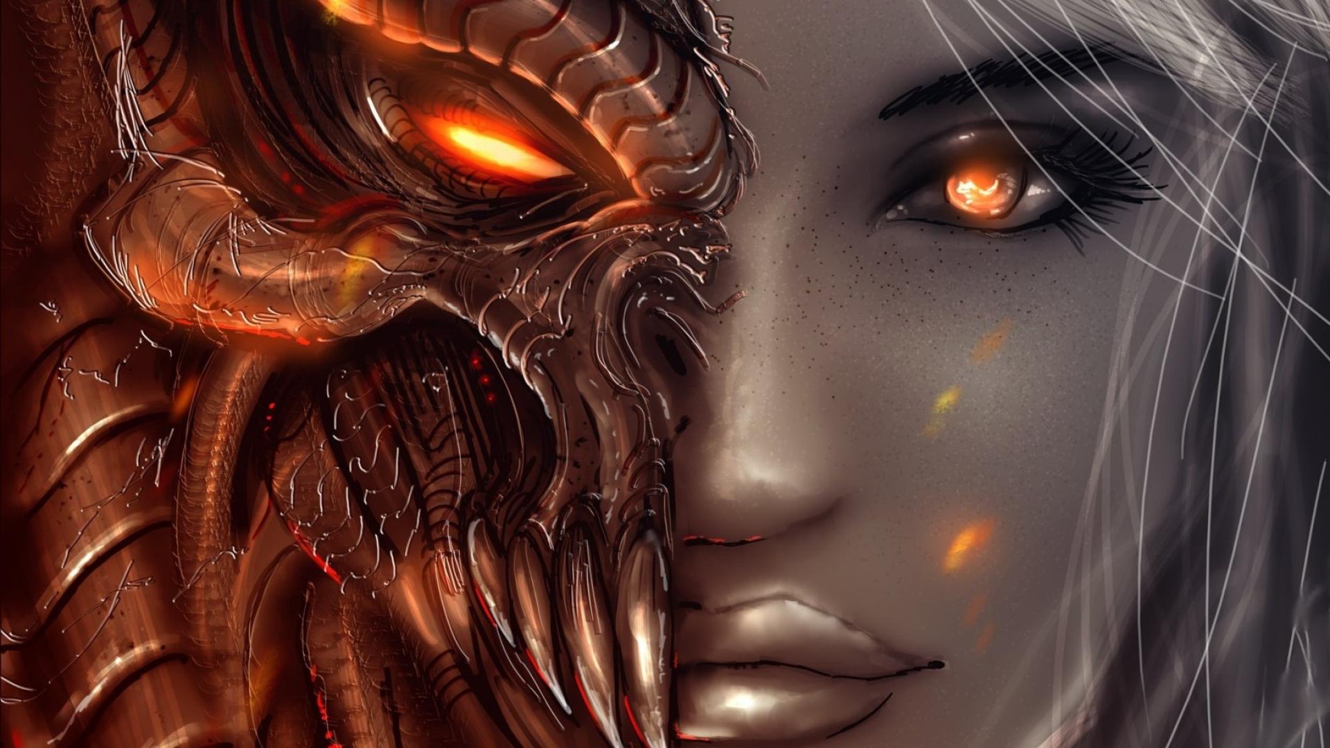 1920x1080 Diablo 3 Art Girl 1080p Laptop Full Hd Wallpaper Hd