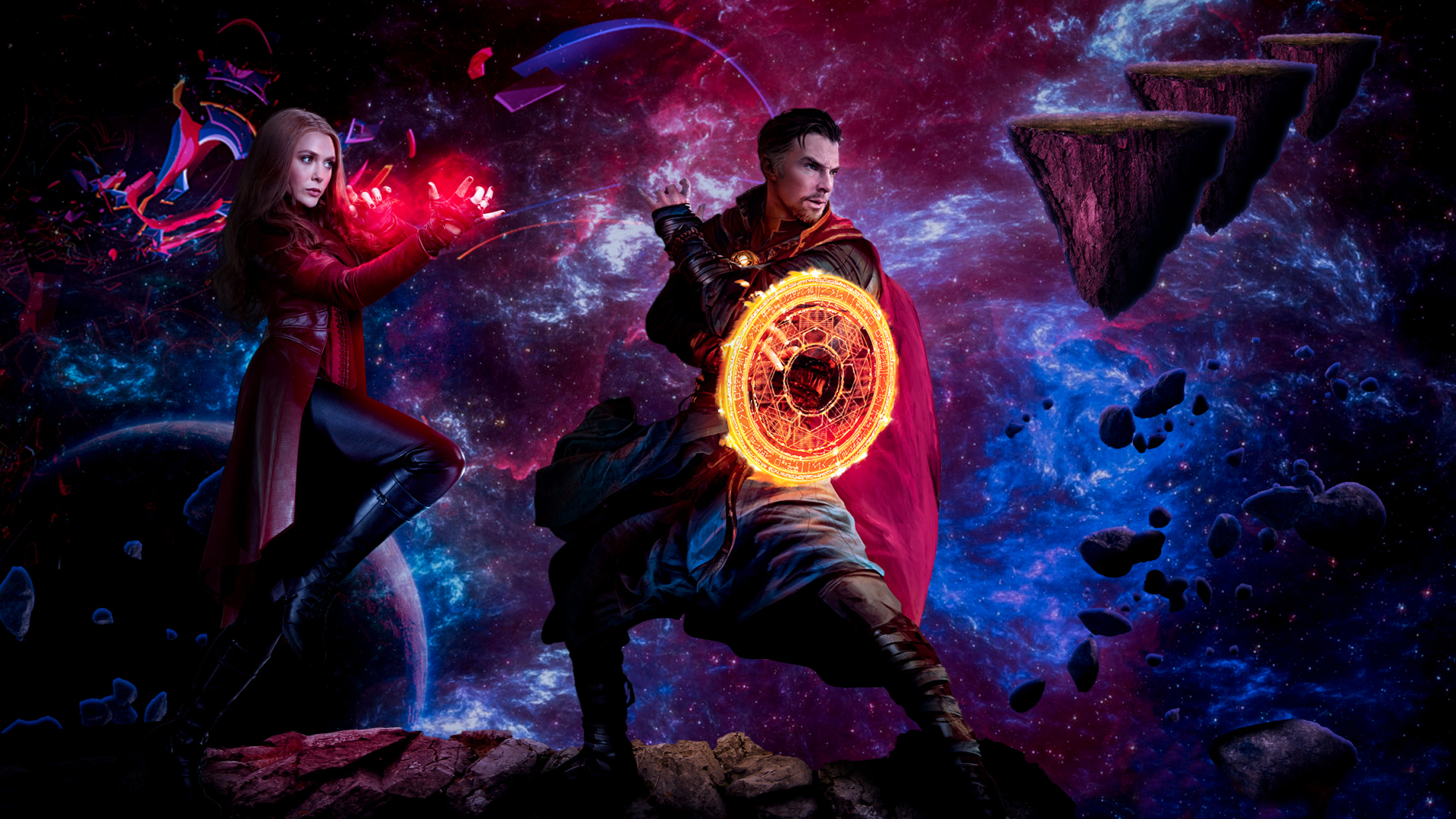 1920x1080 Doctor Strange And Scarlet Witch Madness Of