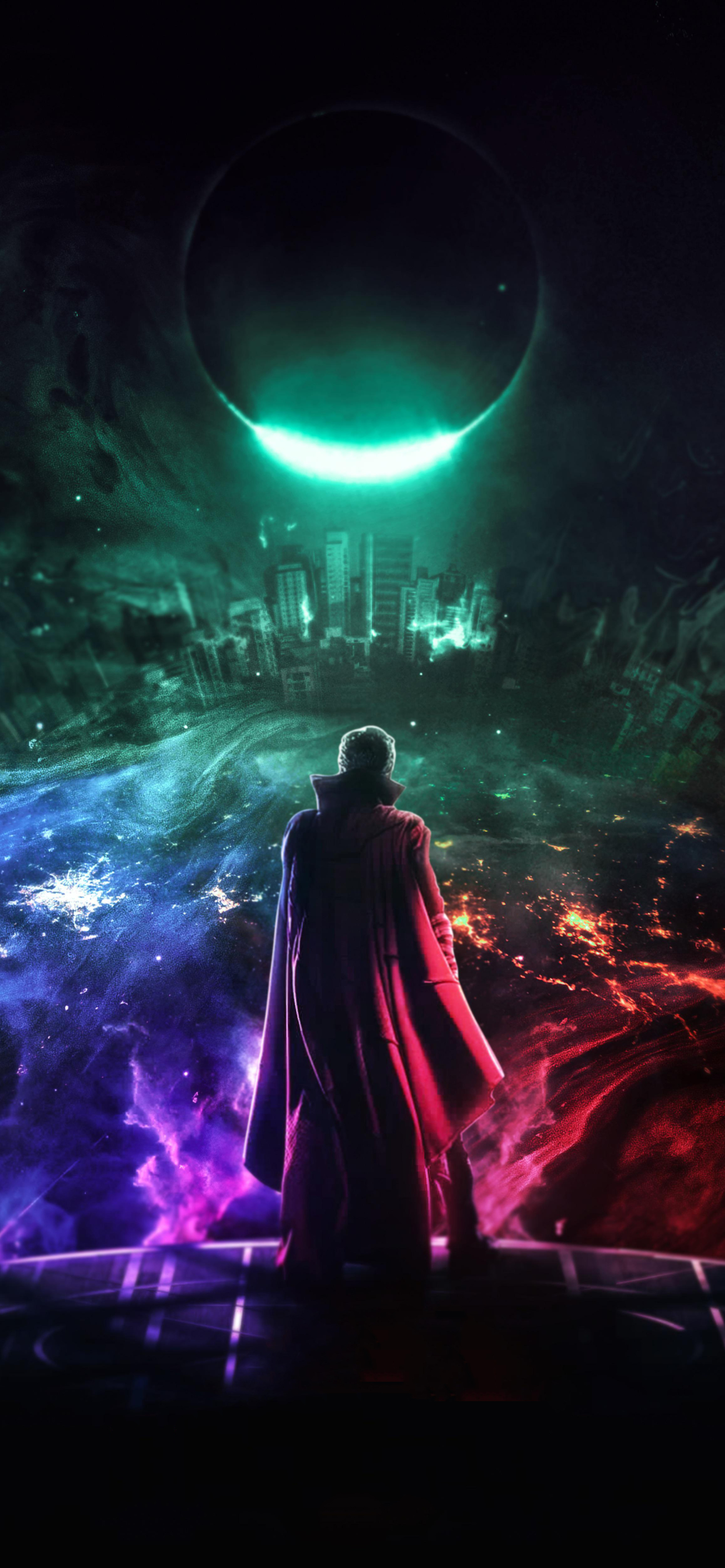 1242x2688 Doctor Strange In The Multiverse Of Madness Art Iphone